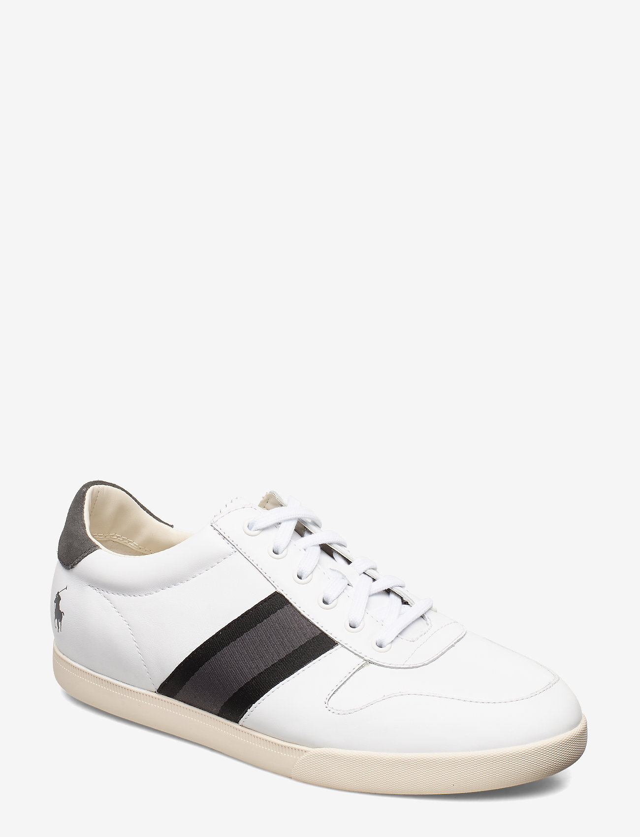 Polo Ralph Lauren - LEATHER/SUEDE-CAMILO II-SK-ATH - low tops - white/black/grey - 0