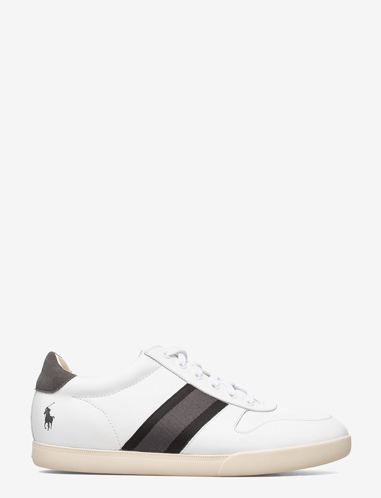 Polo Ralph Lauren - LEATHER/SUEDE-CAMILO II-SK-ATH - low tops - white/black/grey - 1