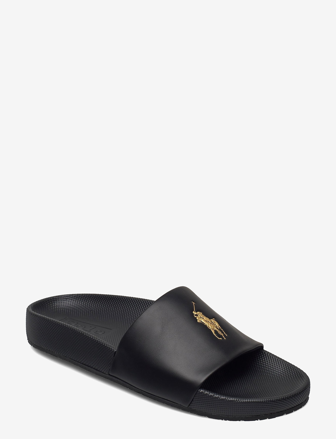 Polo Ralph Lauren - Cayson Pony Slide Sandal - pool sliders - black/gold pp - 0