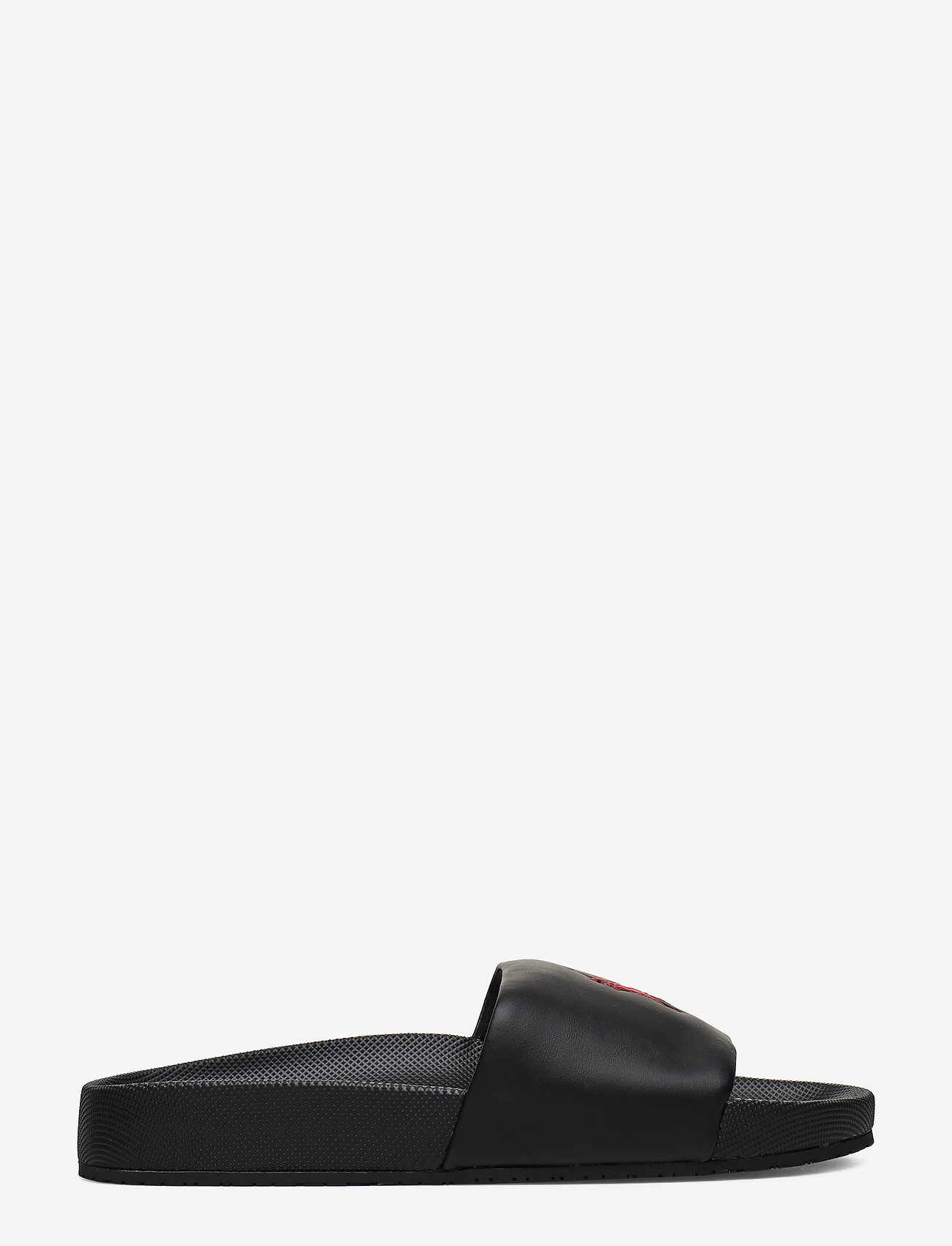 Polo Ralph Lauren - Cayson Pony Slide Sandal - pool sliders - black/red pp - 1