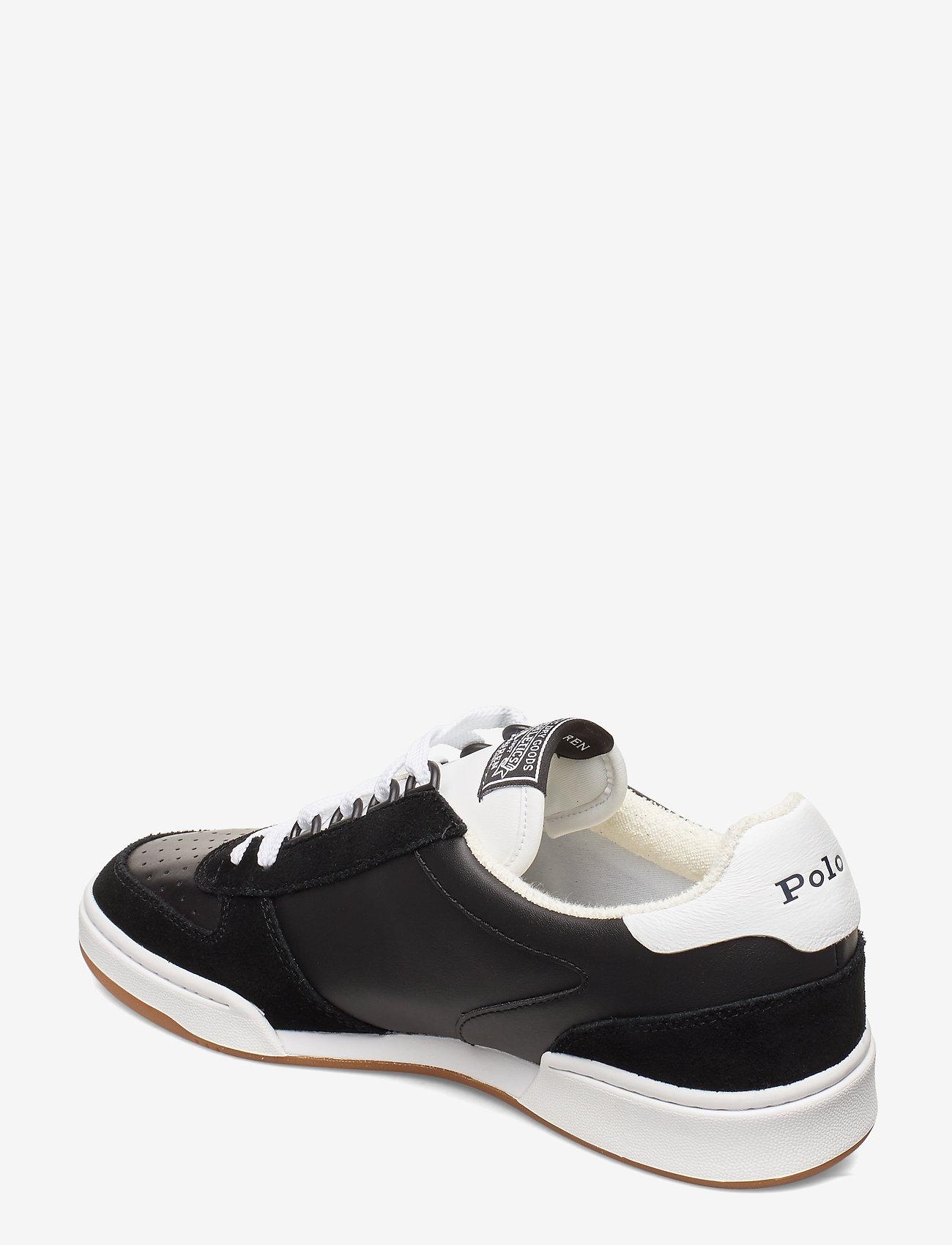 Polo Ralph Lauren Court Leather Sneaker - Sneakers BLACK/WHITE PP - Schuhe Billige