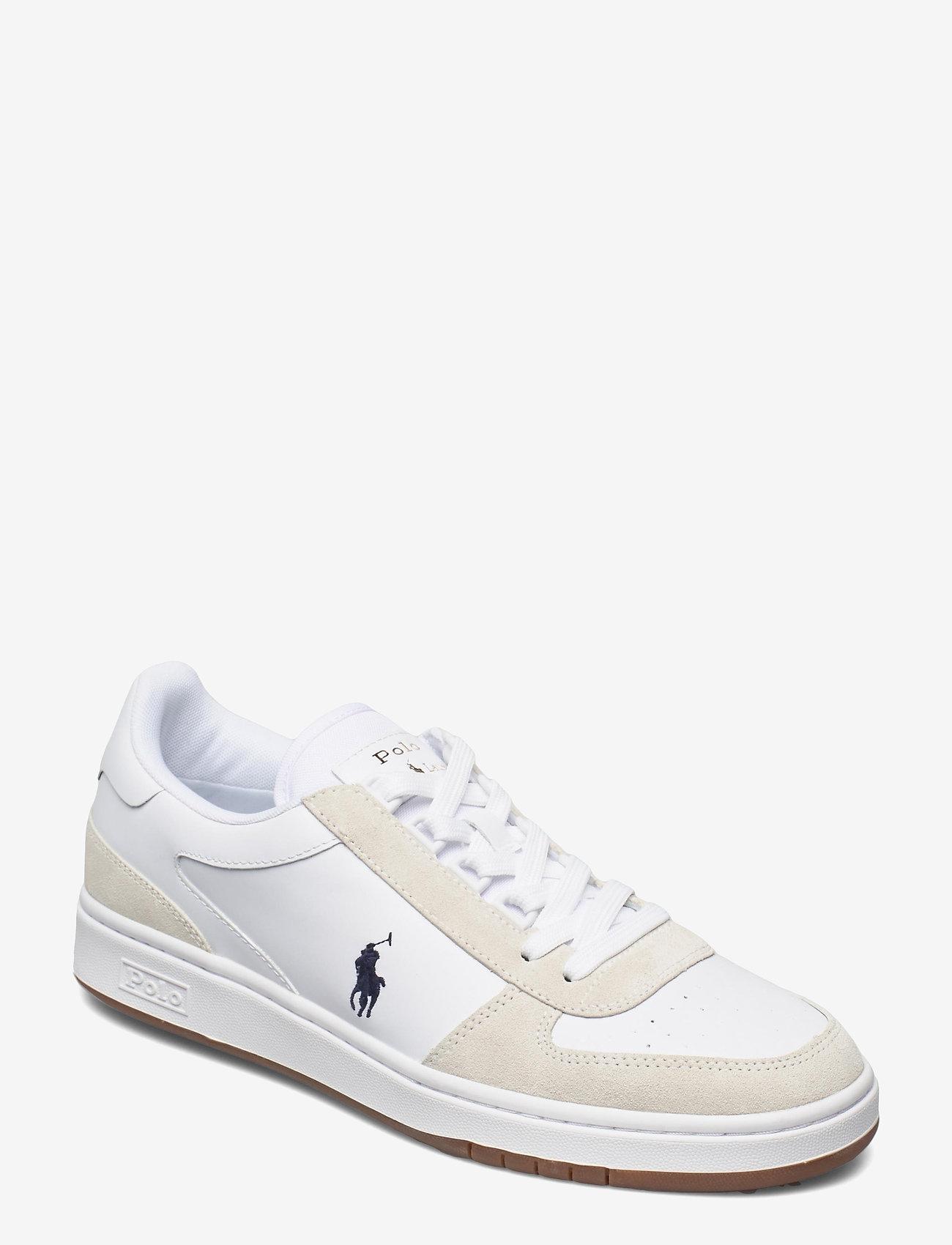 Polo Ralph Lauren - Court Leather-Suede Sneaker - låga sneakers - white/newport nav - 0