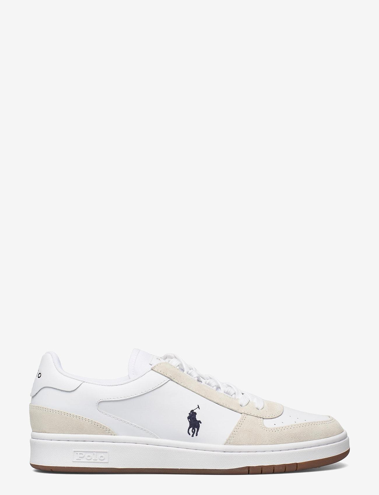 Polo Ralph Lauren - Court Leather-Suede Sneaker - låga sneakers - white/newport nav - 1