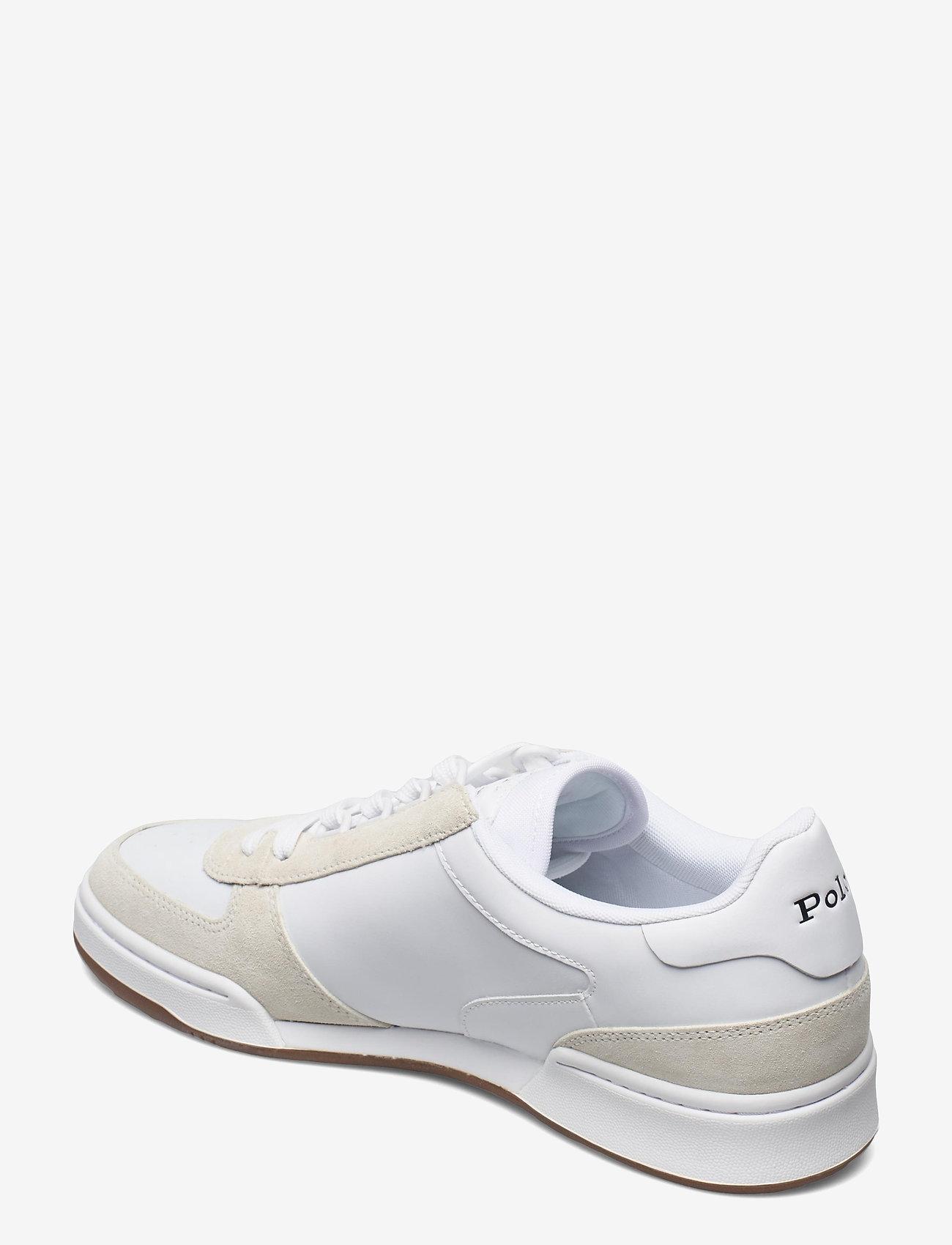 Polo Ralph Lauren - Court Leather-Suede Sneaker - låga sneakers - white/newport nav - 2