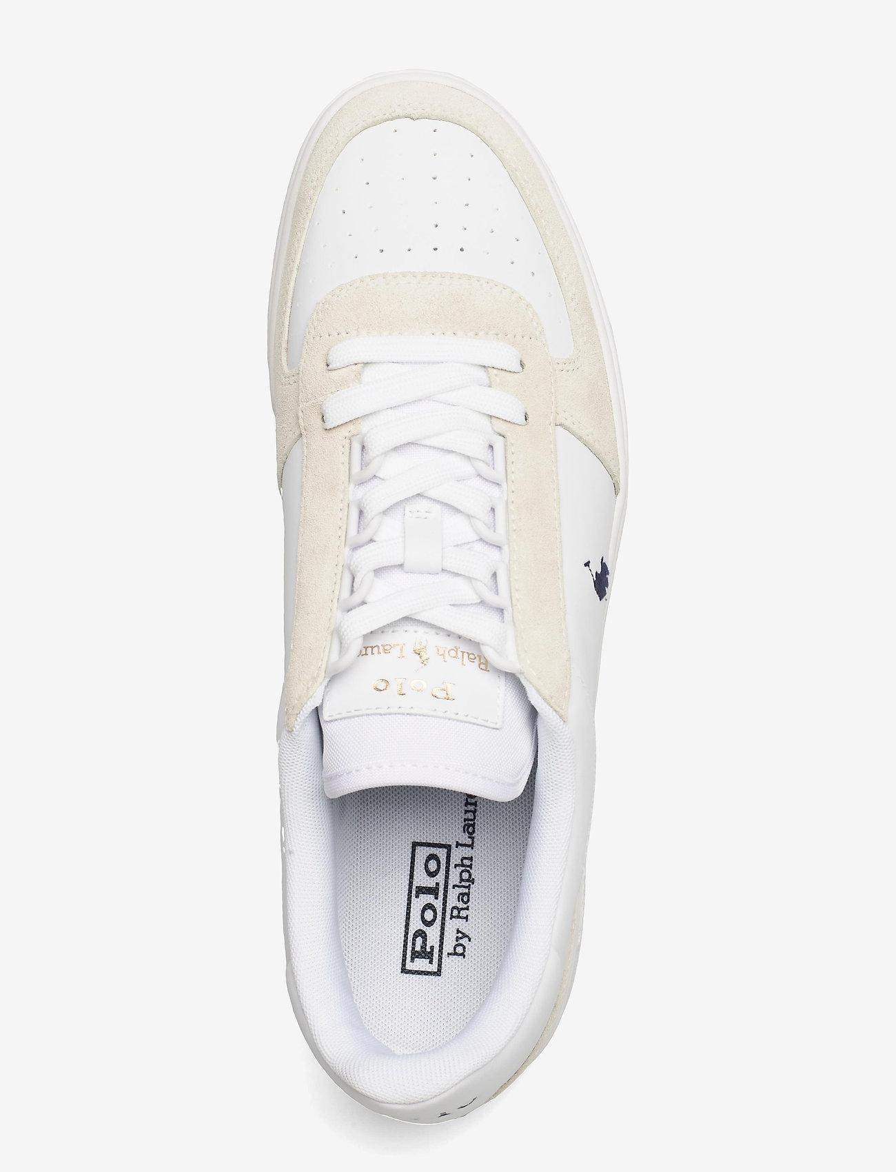 Polo Ralph Lauren - Court Leather-Suede Sneaker - låga sneakers - white/newport nav - 3