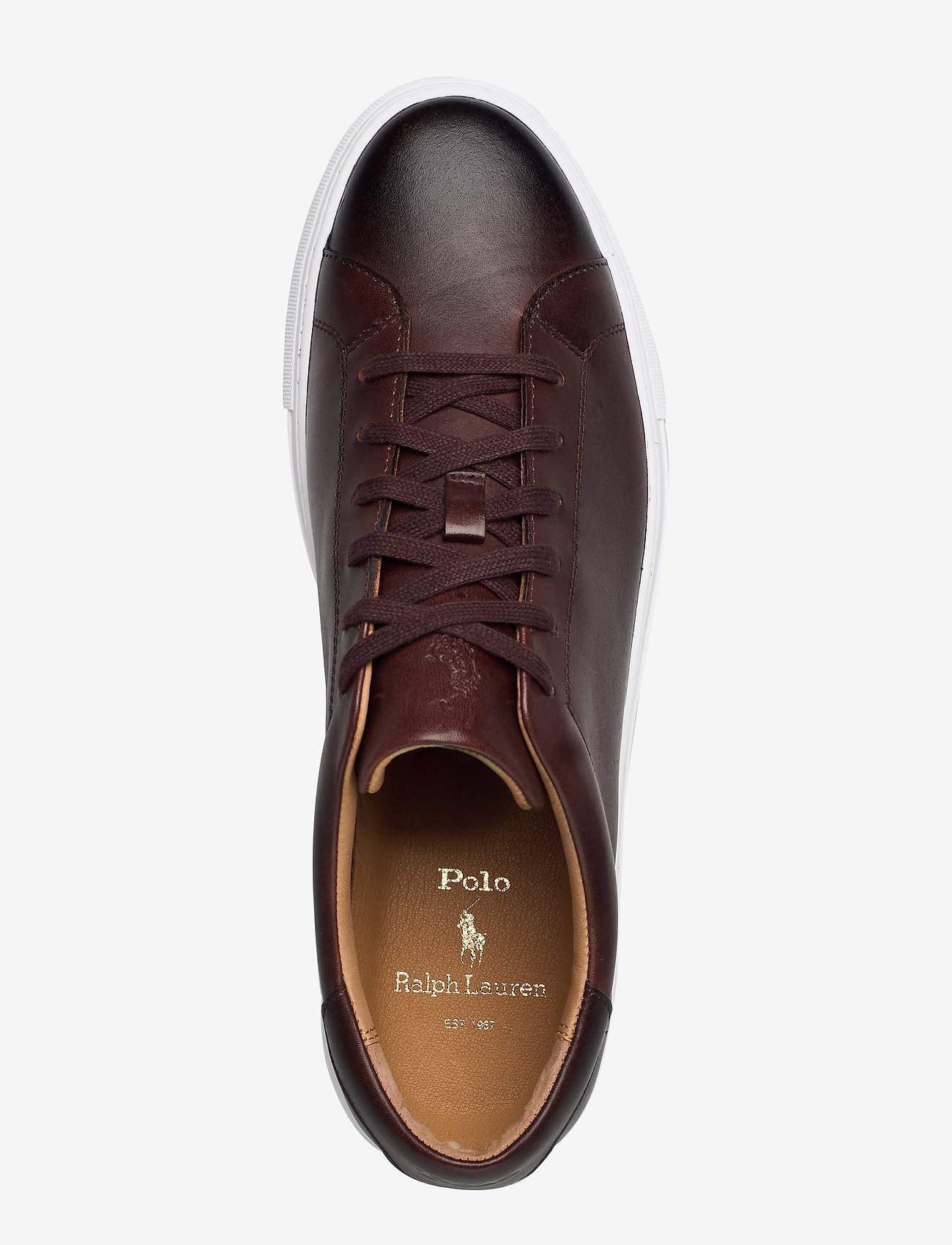 Polo Ralph Lauren - Jermain Leather Sneaker - låga sneakers - polo brown - 3