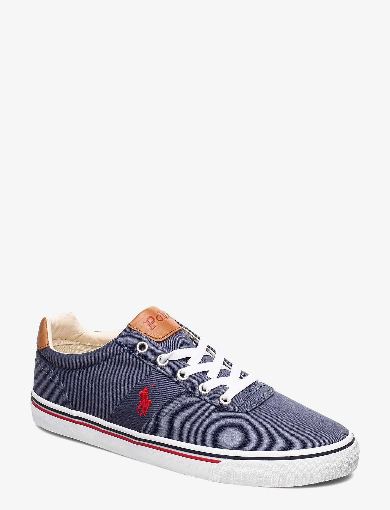 Polo Ralph Lauren - WASHED TWILL-HANFORD-NE - low tops - newport navy/red - 0