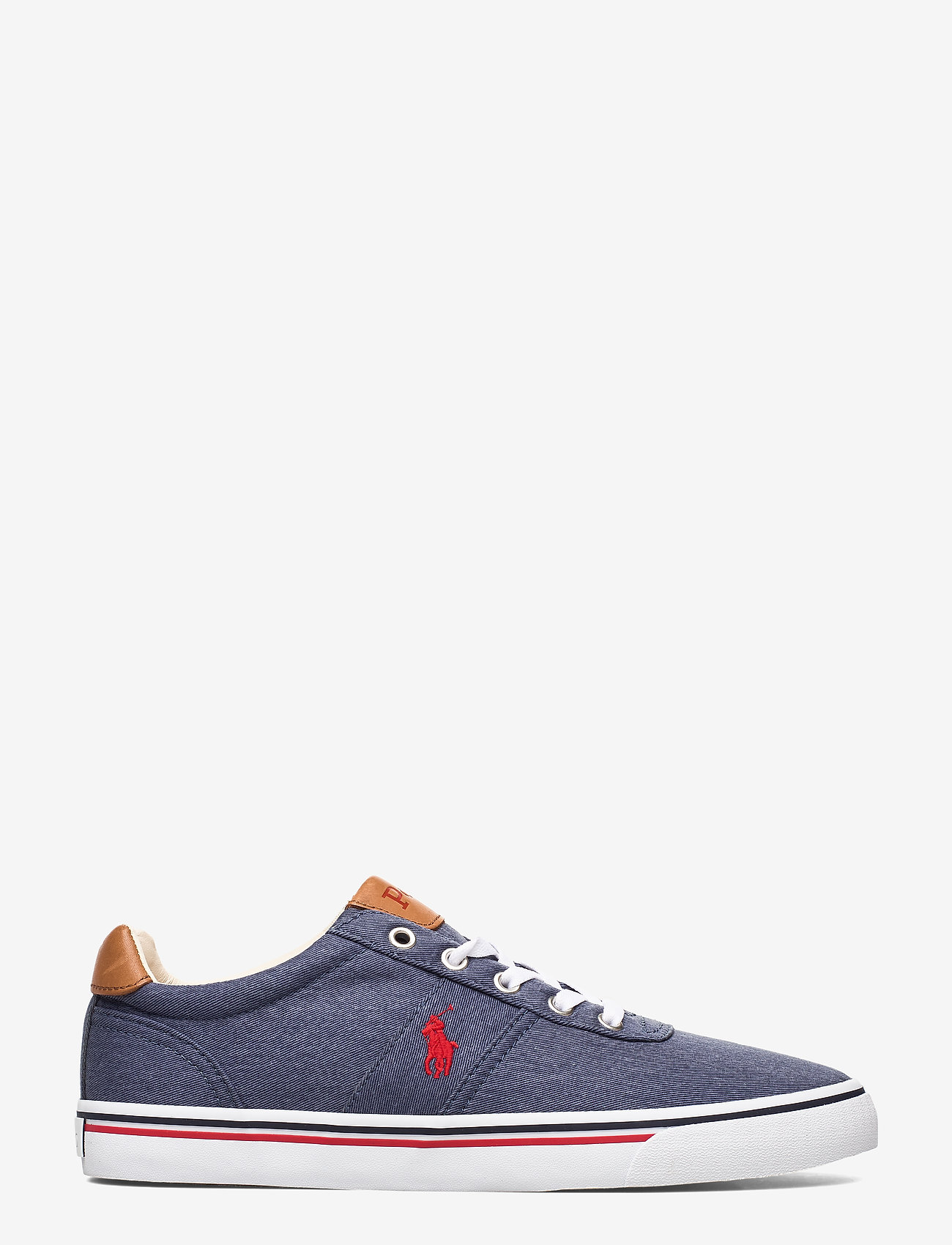 Polo Ralph Lauren - WASHED TWILL-HANFORD-NE - low tops - newport navy/red - 1