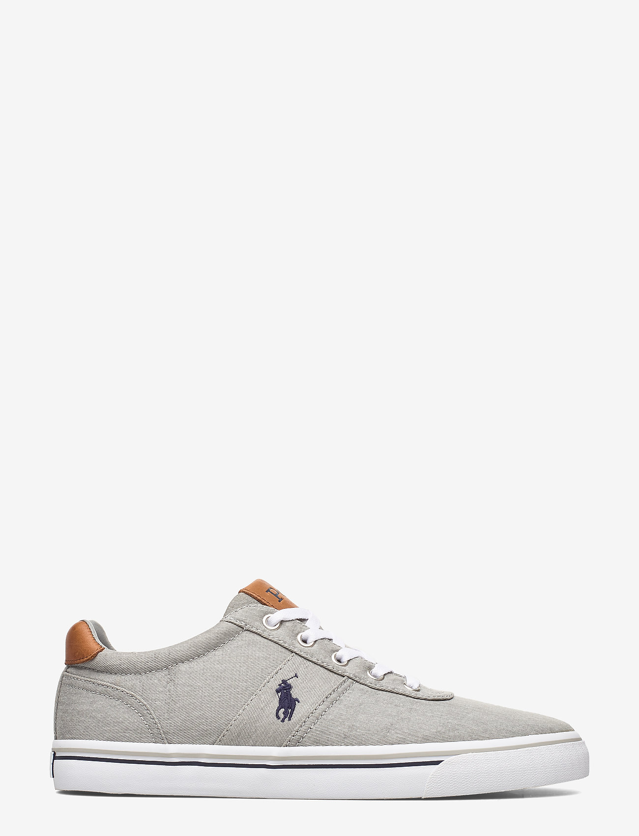 Polo Ralph Lauren - WASHED TWILL-HANFORD-NE - low tops - soft grey/navy pp - 1