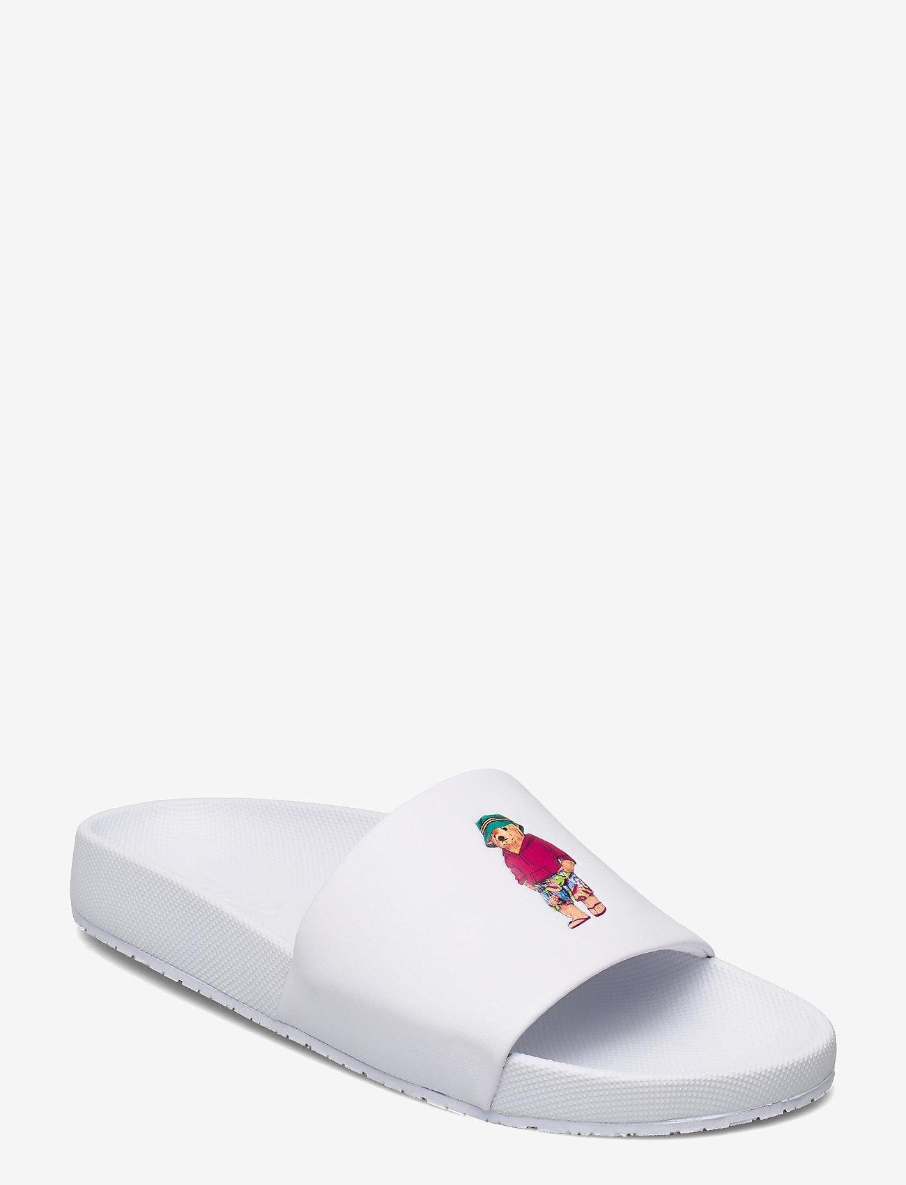 Polo Ralph Lauren - Cayson Polo Bear Slide Sandal - pool sliders - white/beach bear - 0