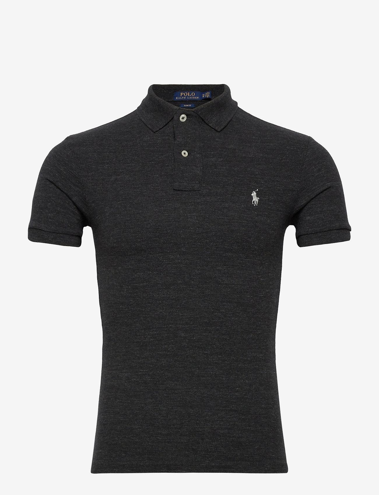 Polo Ralph Lauren - Slim Fit Mesh Polo Shirt - kortermede - black marl heathe - 0