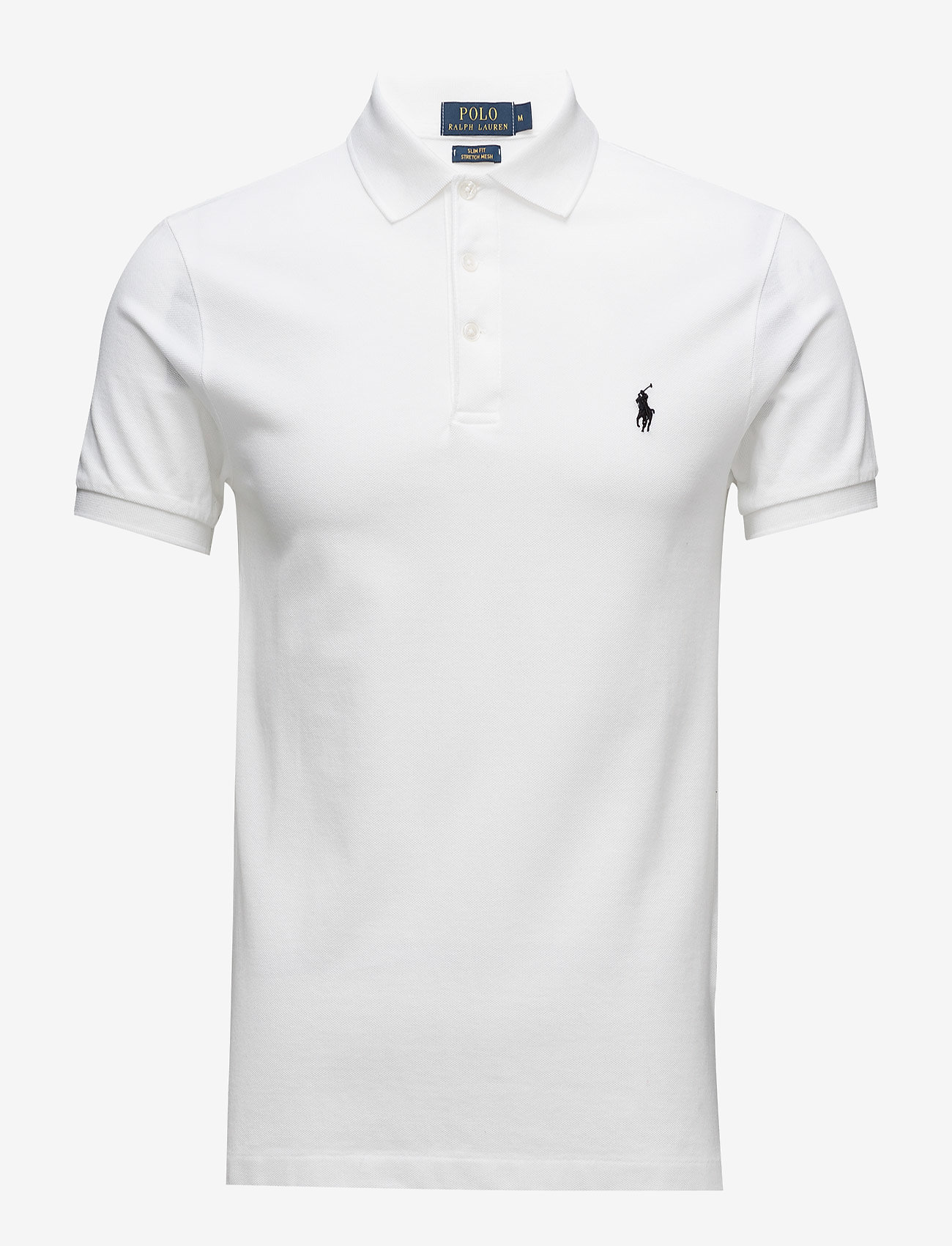 Polo Ralph Lauren - Slim Fit Stretch Mesh Polo - short-sleeved polos - white - 1