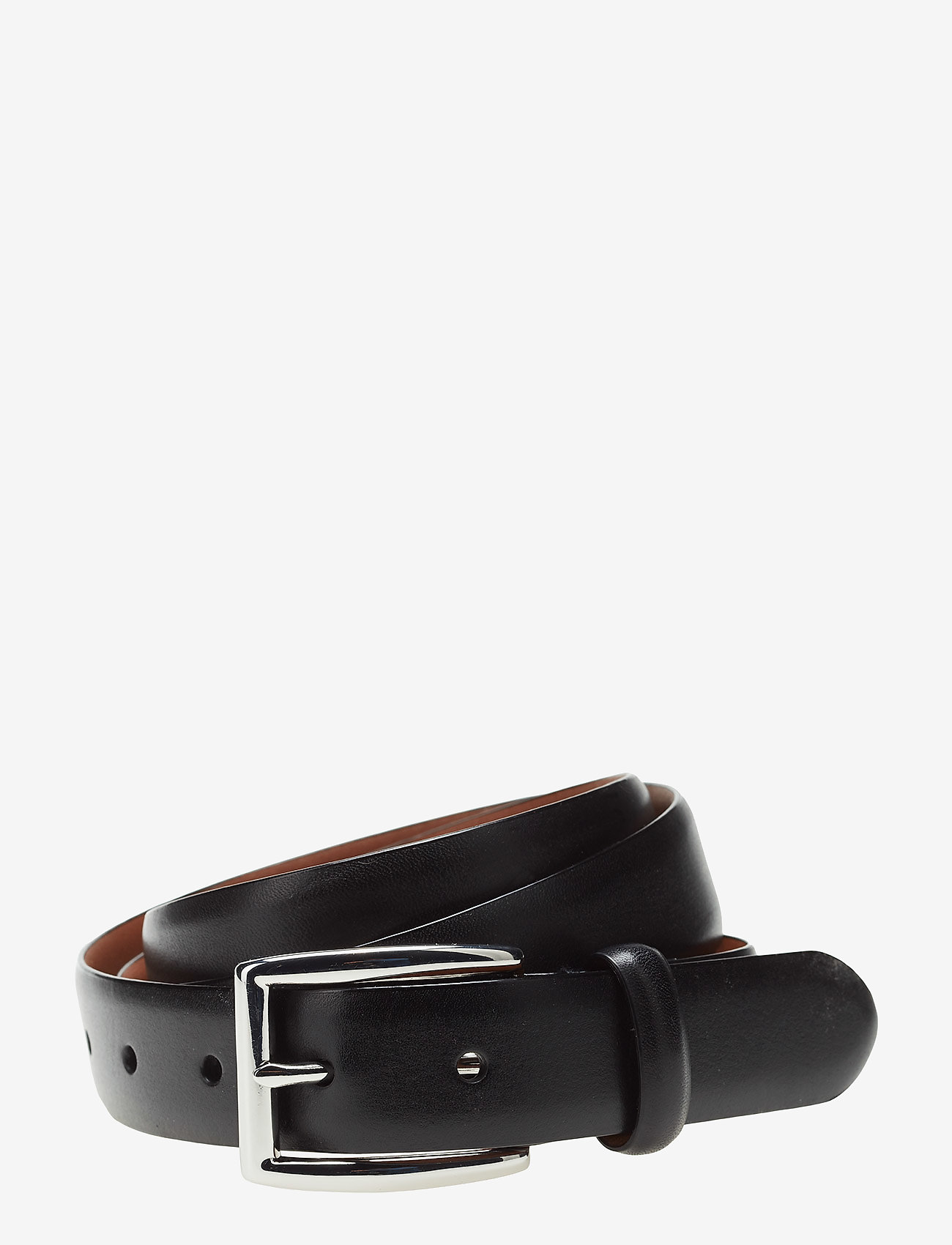 Polo Ralph Lauren - BLT 1 1/8'' LTHR W/ PLSHD BKL - classic belts - black