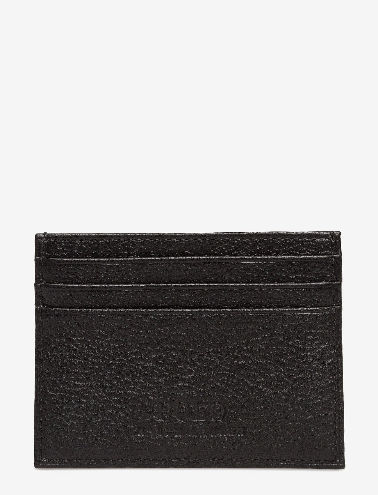 Polo Ralph Lauren - Pebble Leather Card Case - cardholder - black - 1