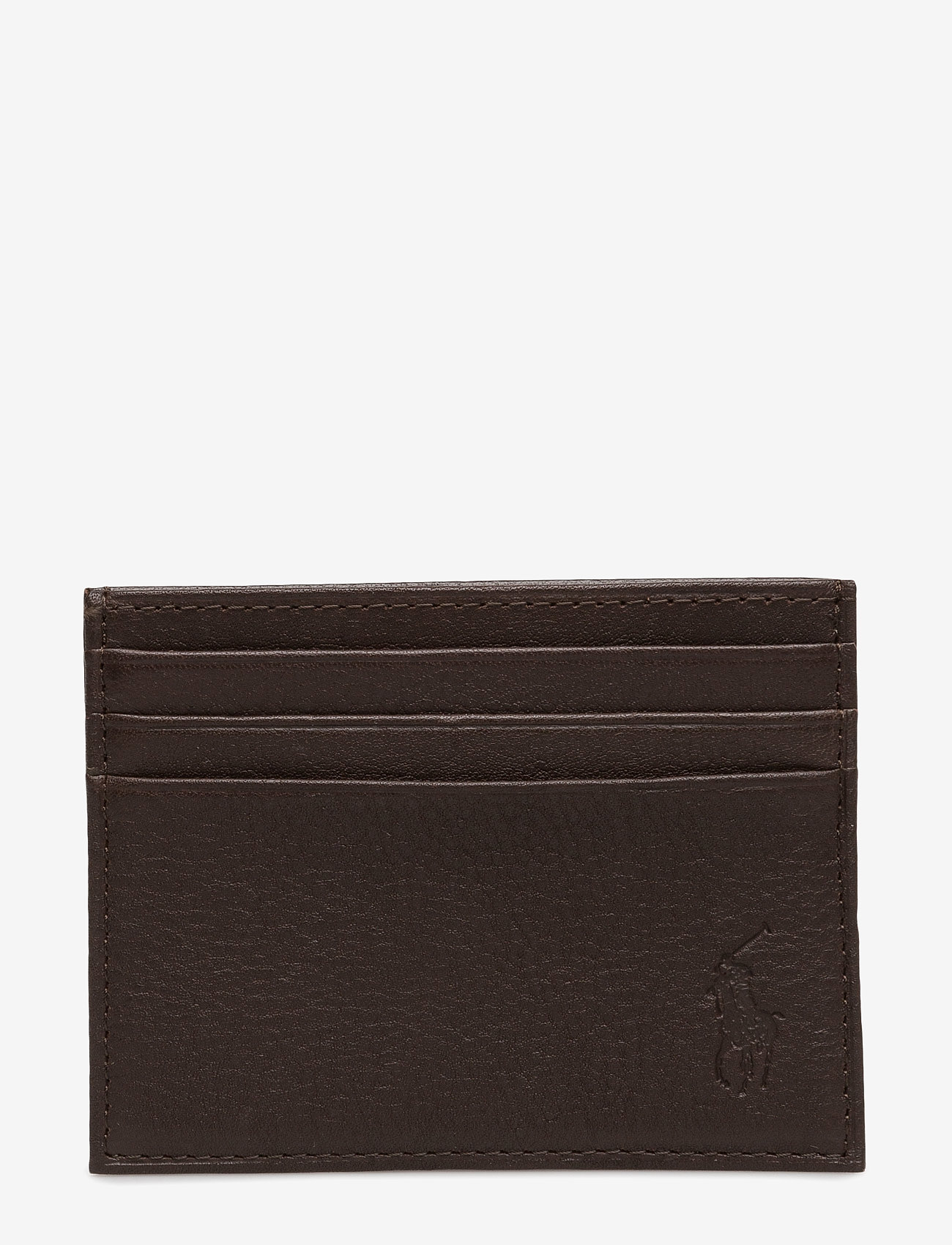 Polo Ralph Lauren - Pebble Leather Card Case - cardholder - brown - 0