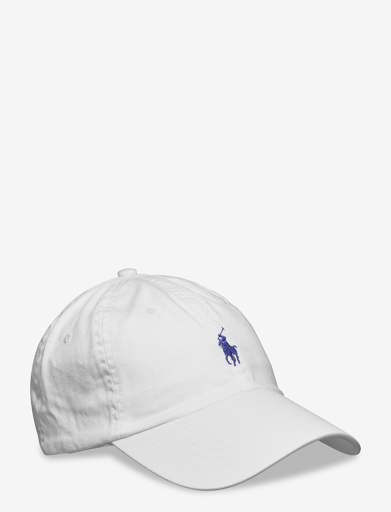 Polo Ralph Lauren - Cotton Chino Baseball Cap - casquettes - white/marlin bl - 0