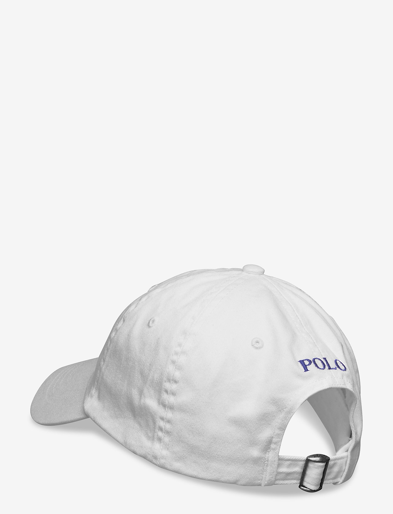 Polo Ralph Lauren - Cotton Chino Baseball Cap - casquettes - white/marlin bl - 1