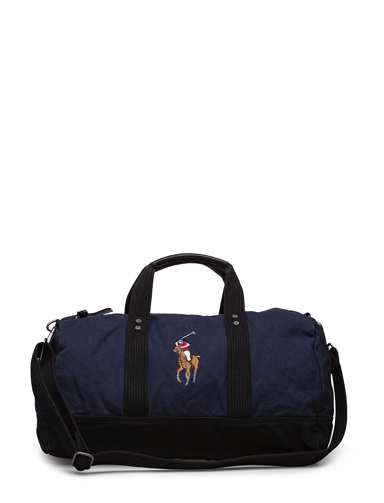 Polo Ralph Lauren Canvas Big Pony Duffel Bag - NAVY/BLACK