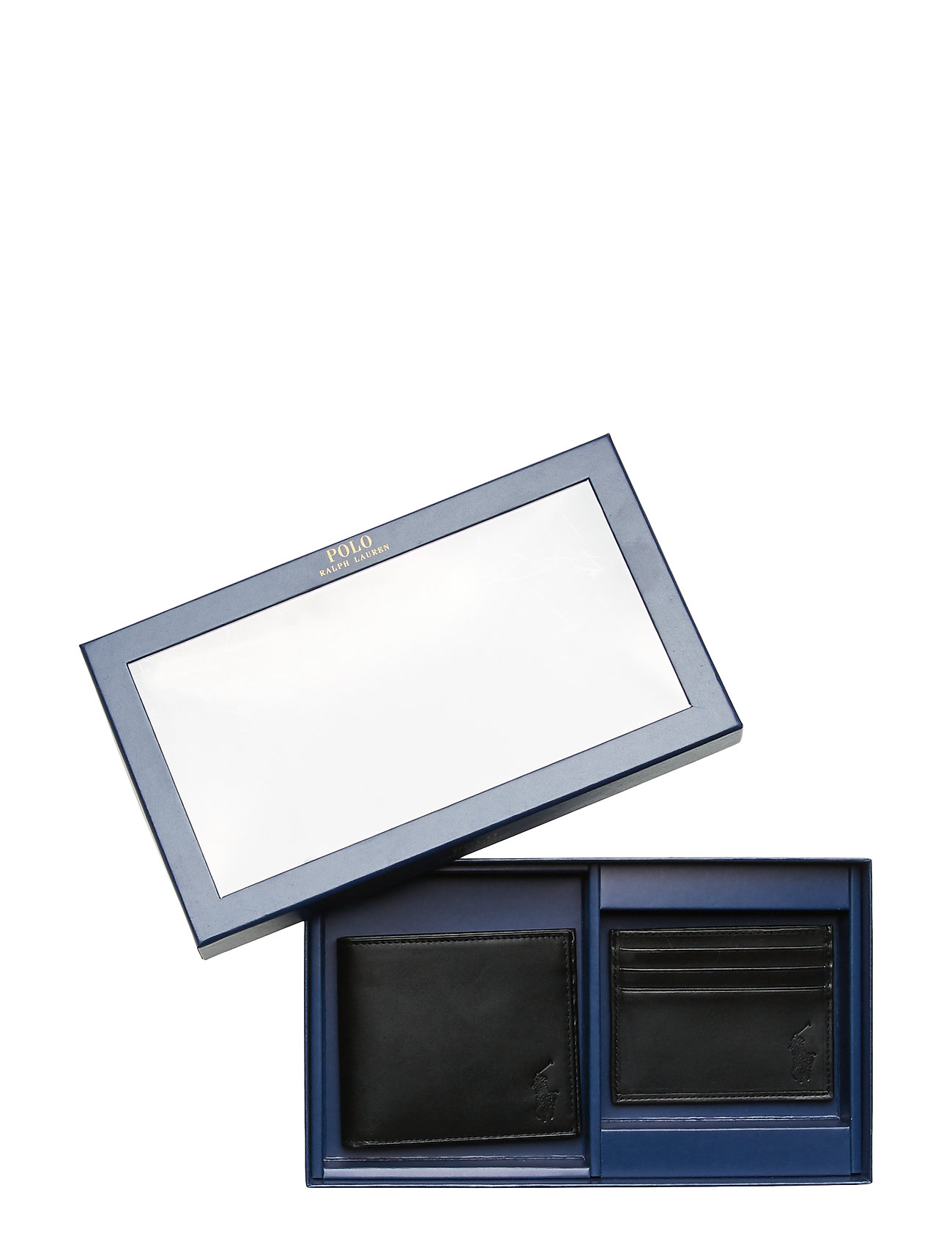 Polo Ralph Lauren - Leather Wallet & Card Case Gift Box Se - card holders - black - 0