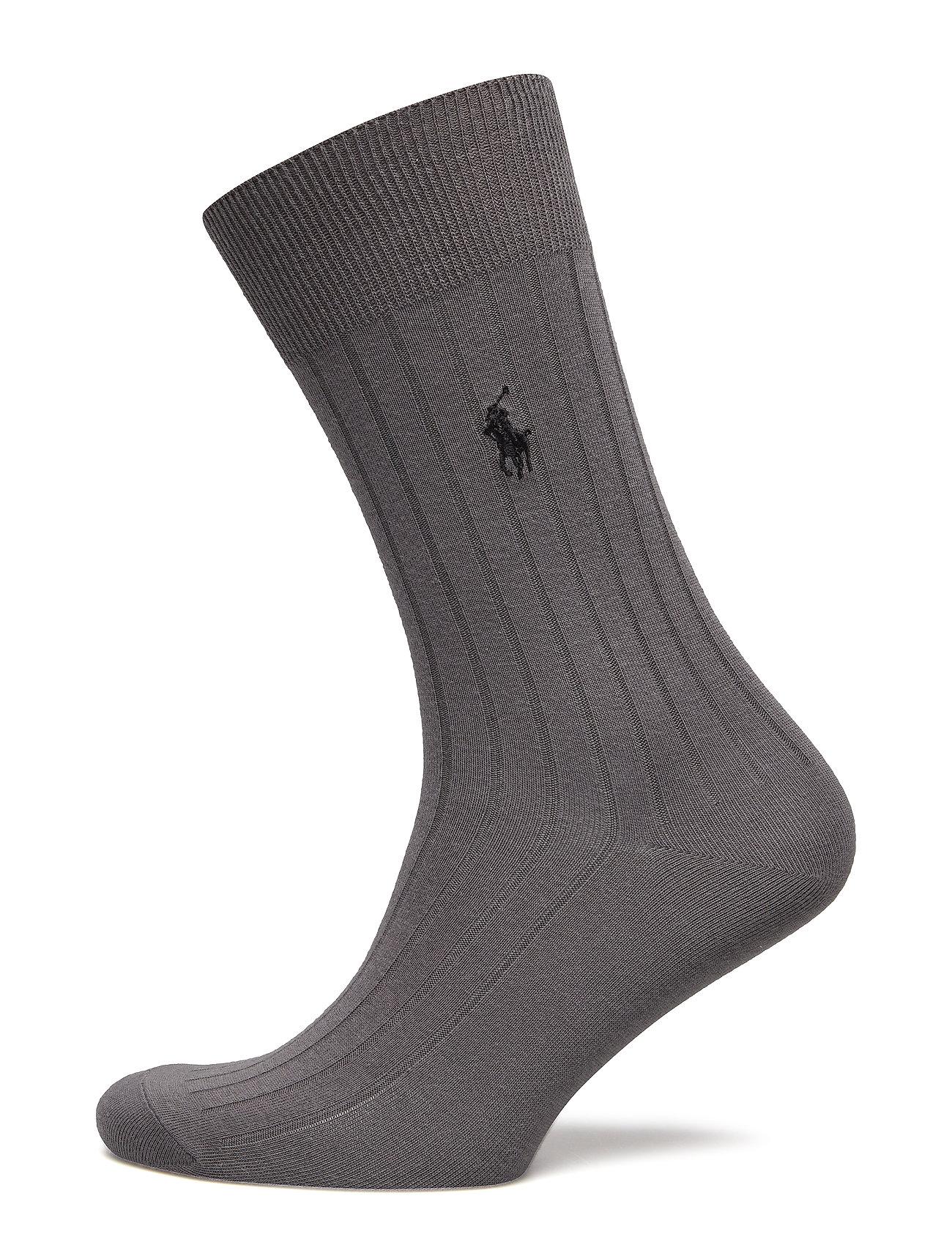 Polo Ralph Lauren Egyptian Cotton Trouser Socks - CHARCOAL HEATHER
