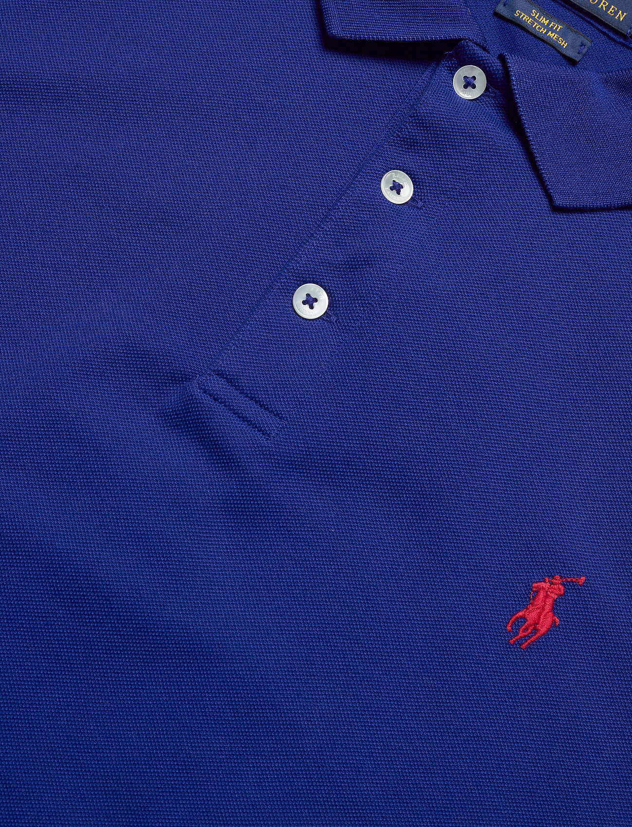 Polo Ralph Lauren Slim Fit Stretch Mesh - Pikéer Heritage Royal/c3