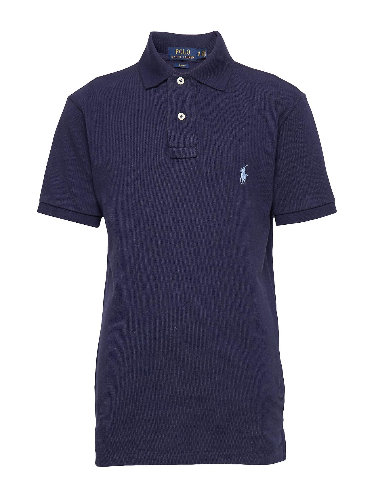 Polo Ralph Lauren Slim Fit Mesh Polo Shirt - NEWPORT NAVY/BLUE