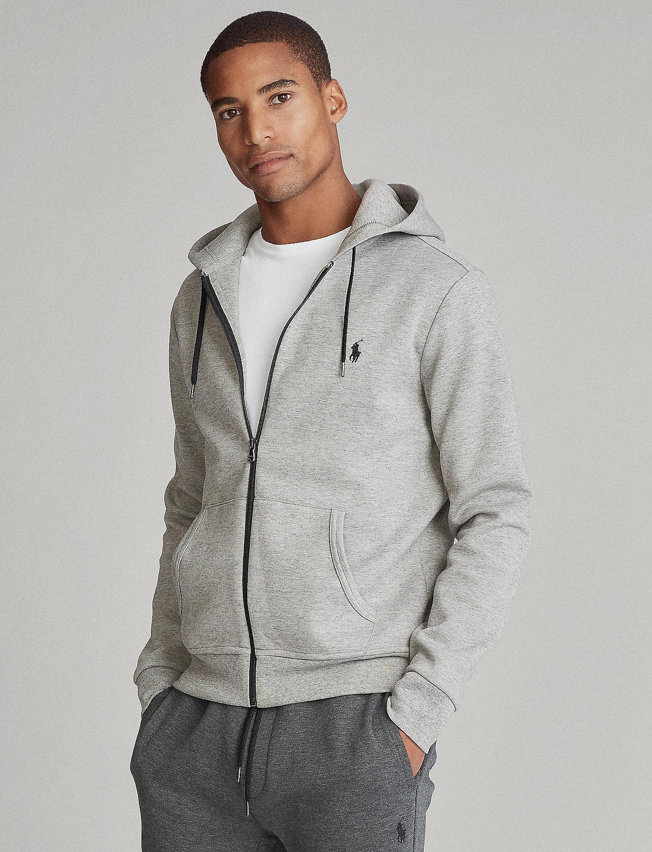 Polo Ralph Lauren - Double-Knit Full-Zip Hoodie - hoodies - battalion heather - 0