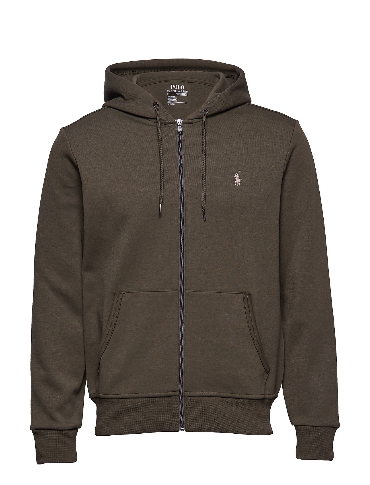 Polo Ralph Lauren Double-Knit Full-Zip Hoodie - COMPANY OLIVE