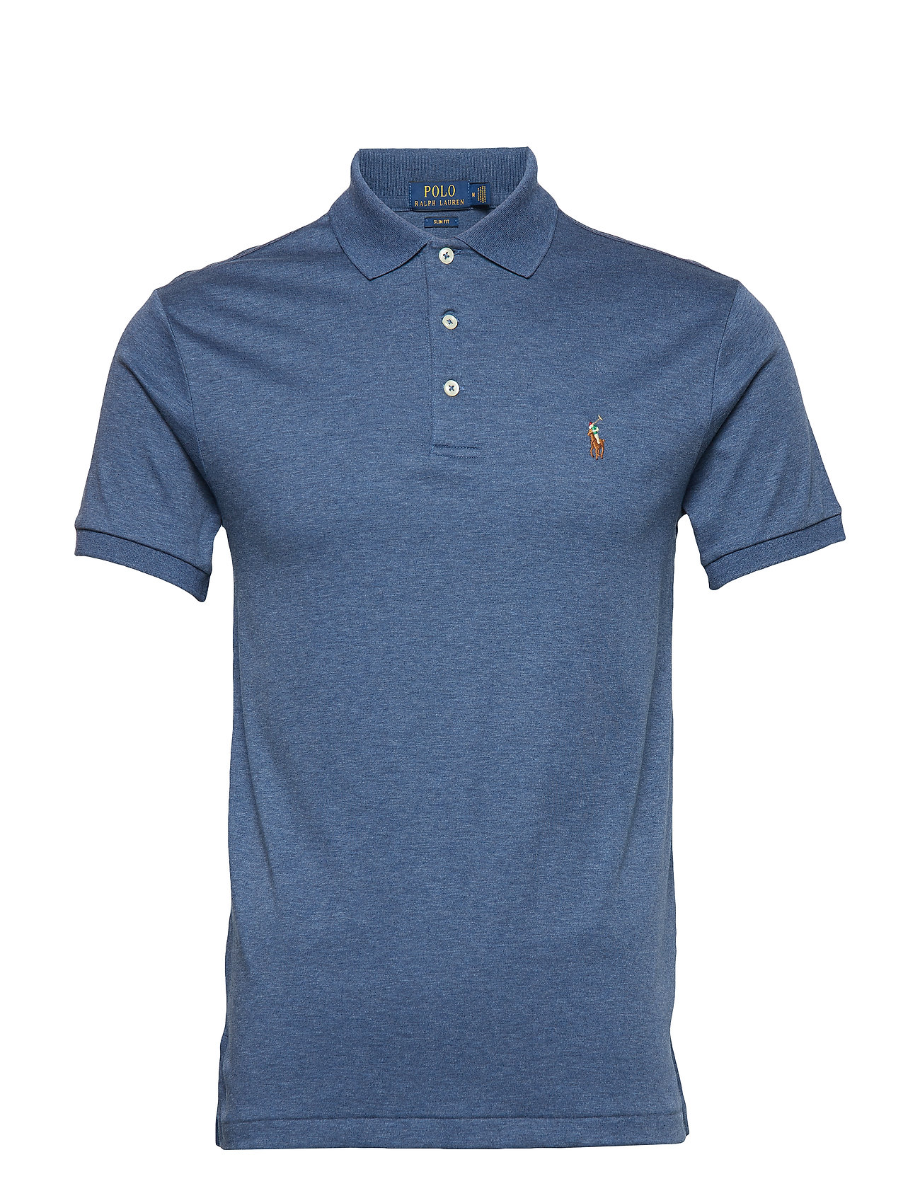 Polo Ralph Lauren Slim Fit Soft-Touch Polo Shirt - DERBY BLUE HEATHE