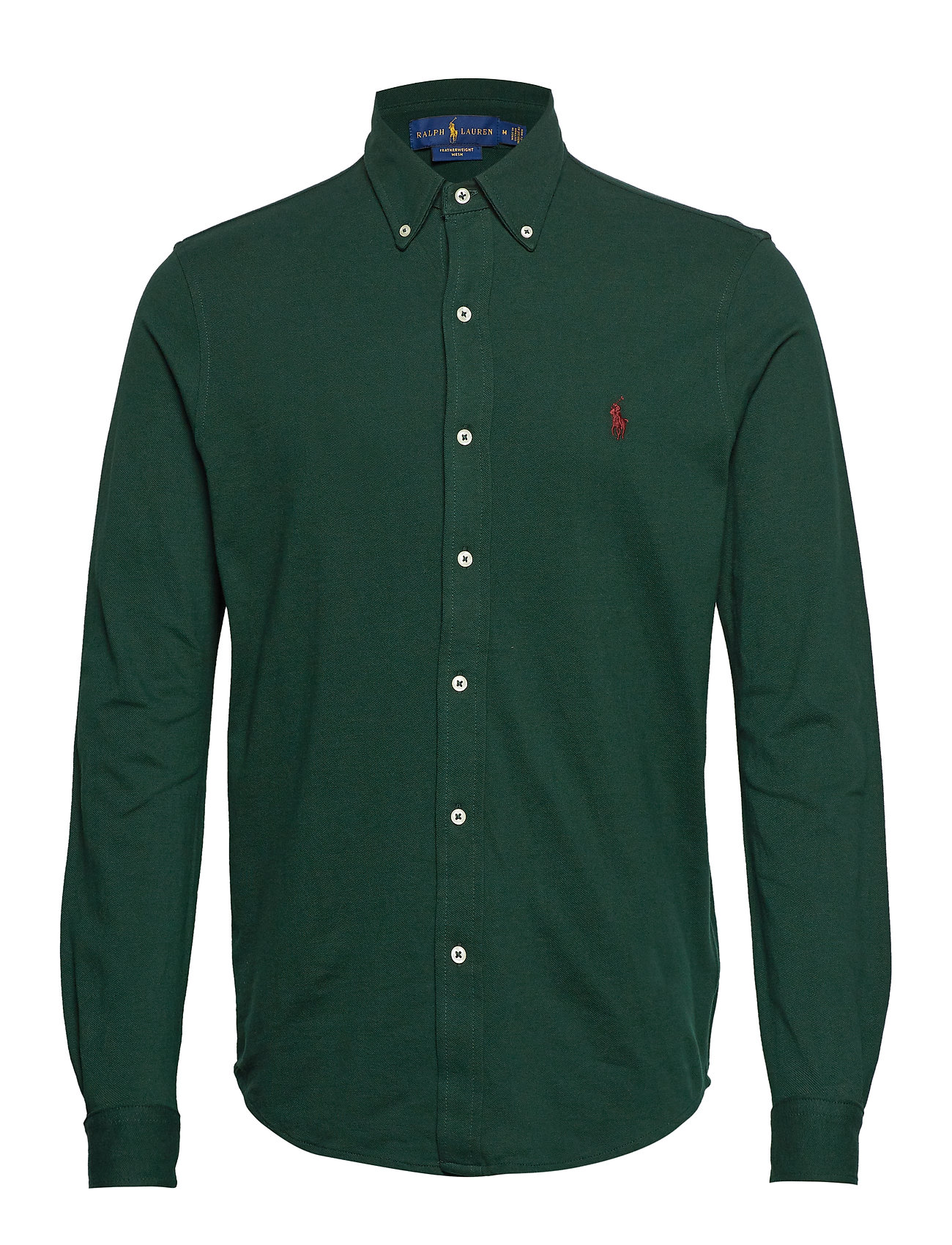 Polo Ralph Lauren Featherweight Mesh Shirt - COLLEGE GREEN