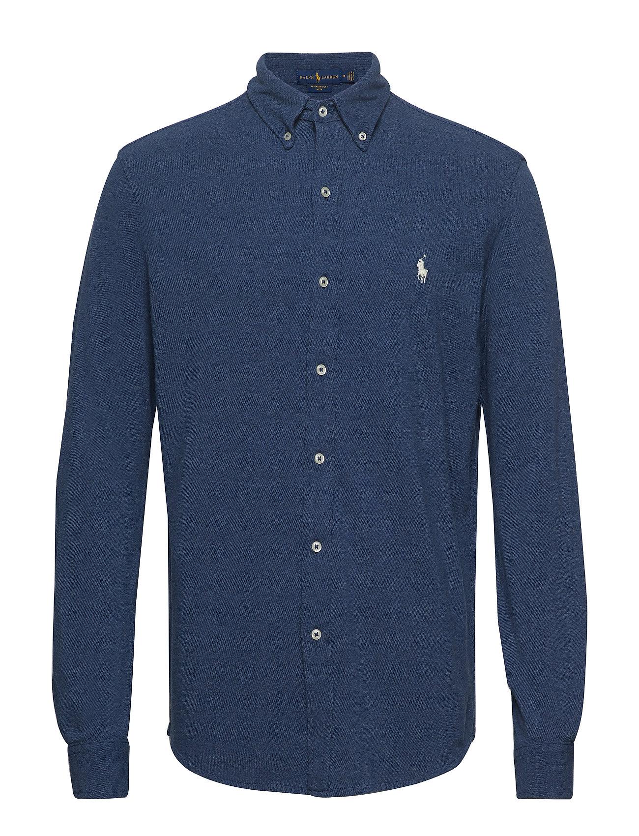 Polo Ralph Lauren Featherweight Mesh Shirt - DERBY BLUE HEATHE