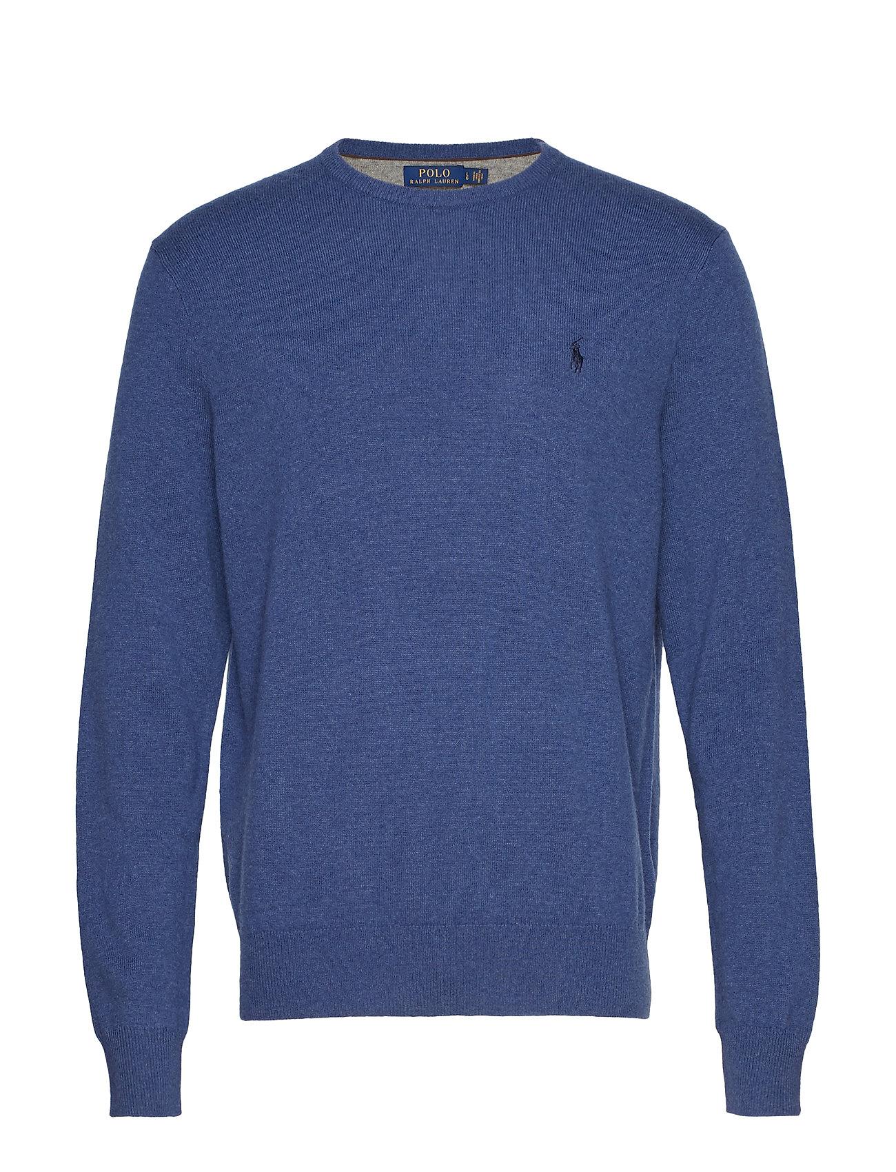 Polo Ralph Lauren Merino Wool Crewneck Sweater - SHALE BLUE HEATHE