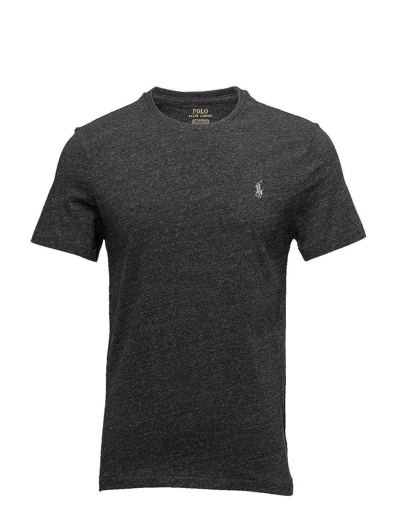 Polo Ralph Lauren Custom Slim Fit Cotton T-Shirt - BLACK MARL HEATHE