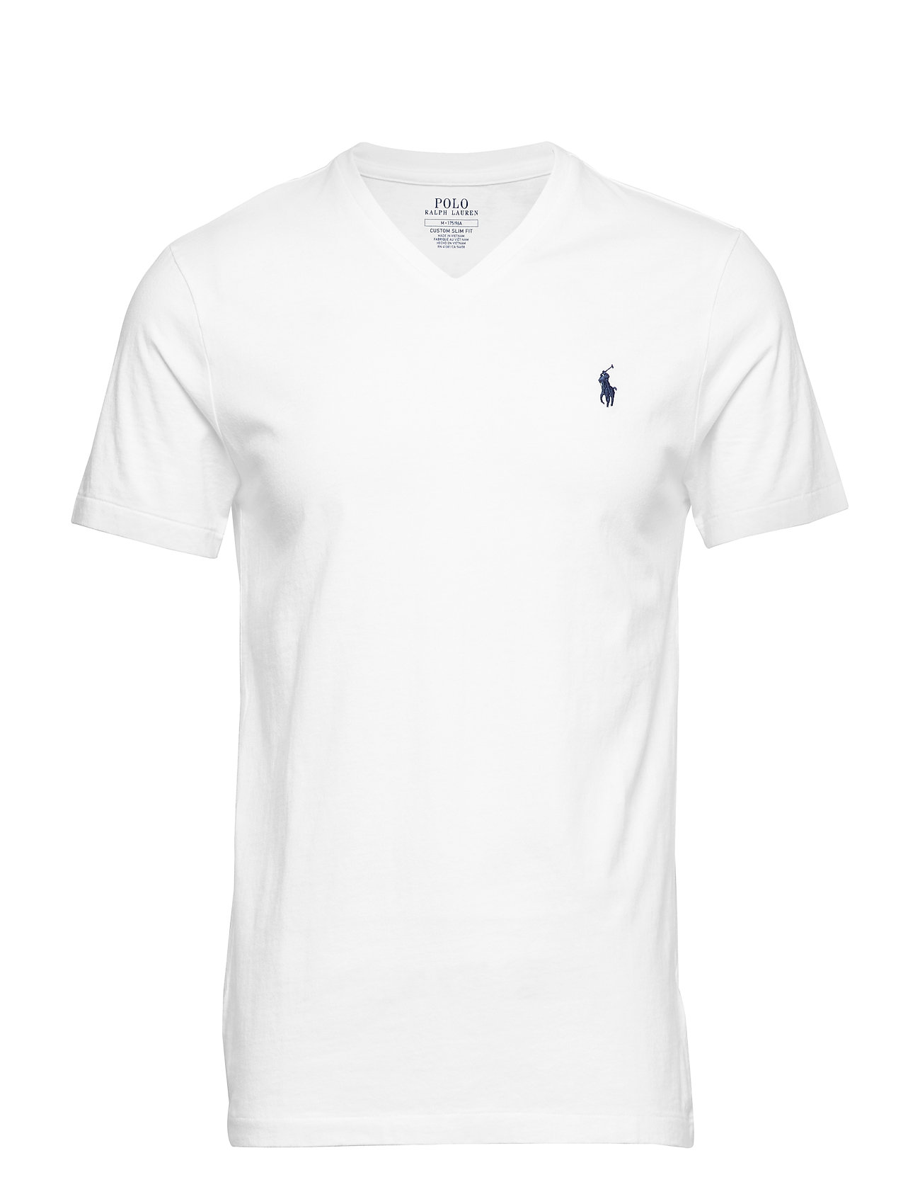 Polo Ralph Lauren Custom Slim Fit V-Neck T-Shirt - WHITE
