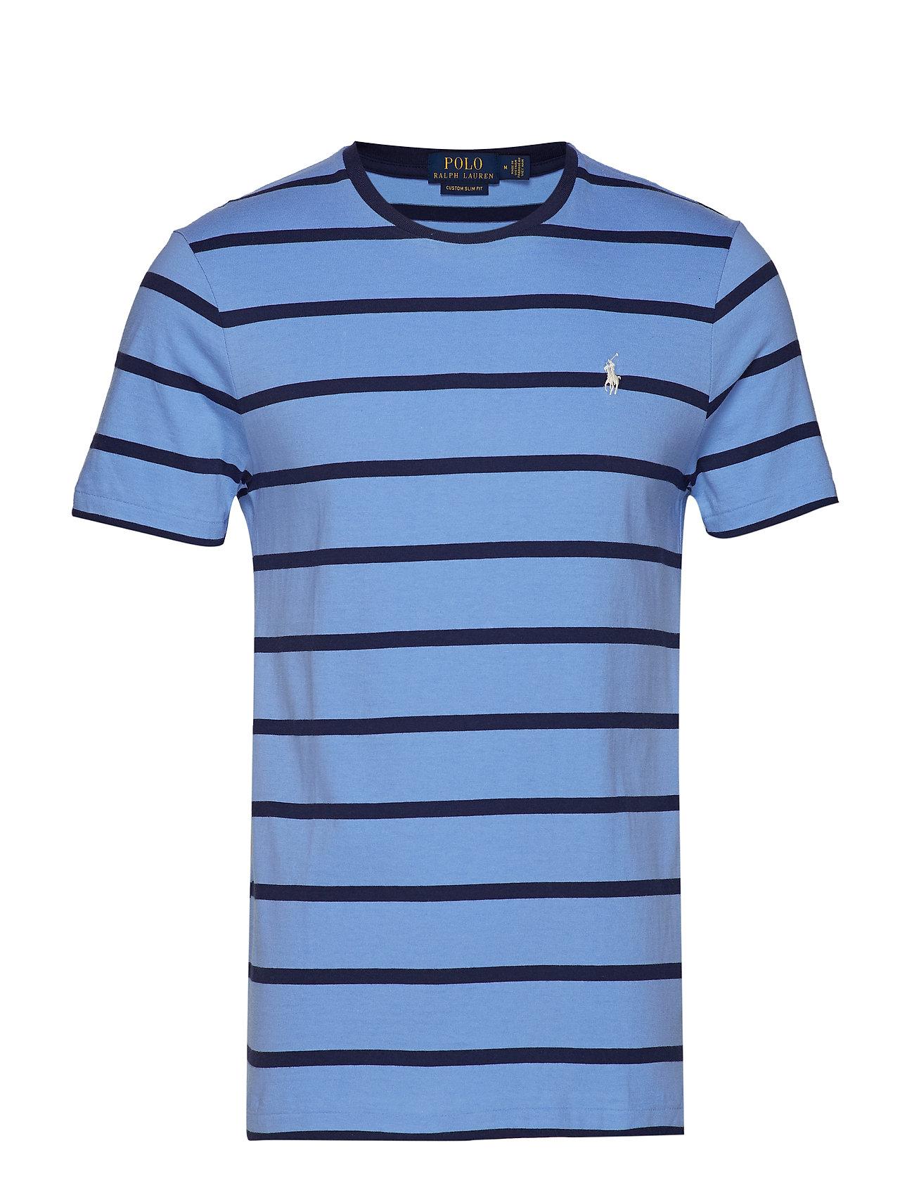Polo Ralph Lauren Custom Slim Fit T-Shirt - CABANA BLUE/NEWPO