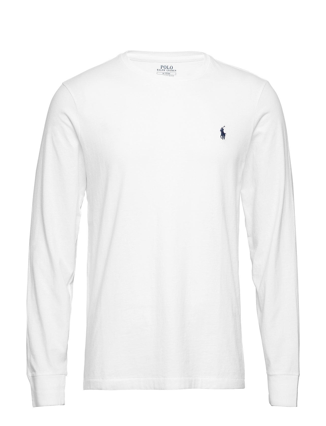 d942f5bc9 Custom Slim Fit Cotton T-shirt (White) (£59) - Polo Ralph Lauren ...
