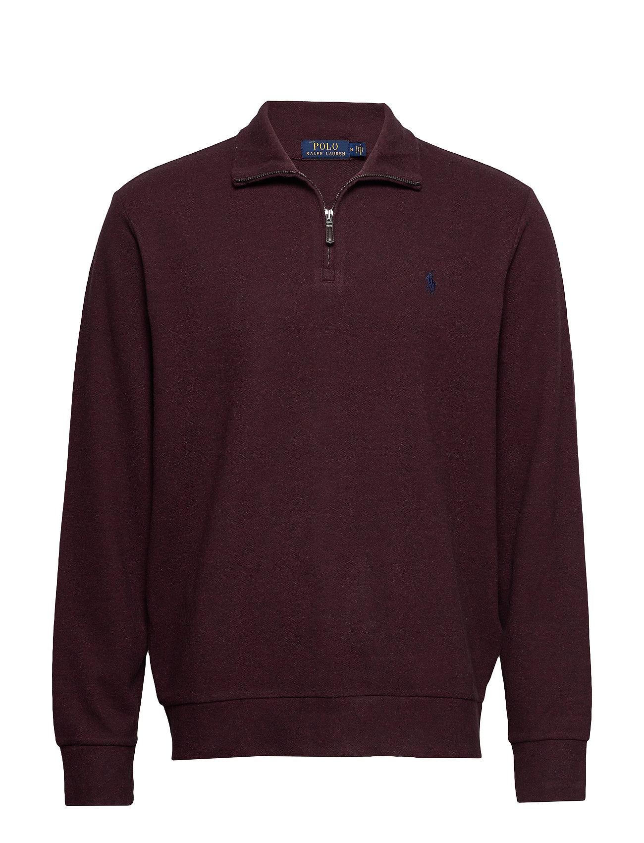Polo Ralph Lauren Double-Knit Half-Zip Pullover - AGED WINE HEATHER