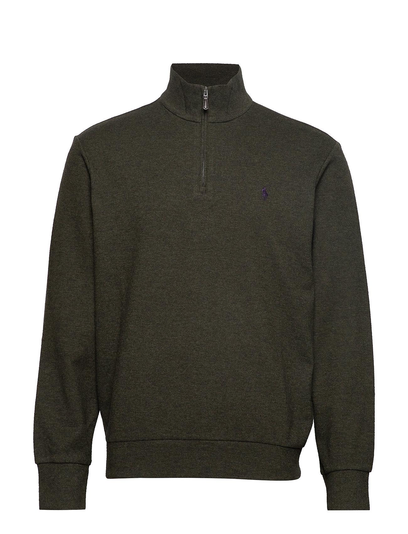 Polo Ralph Lauren Double-Knit Half-Zip Pullover - LIMERICK GREEN HE