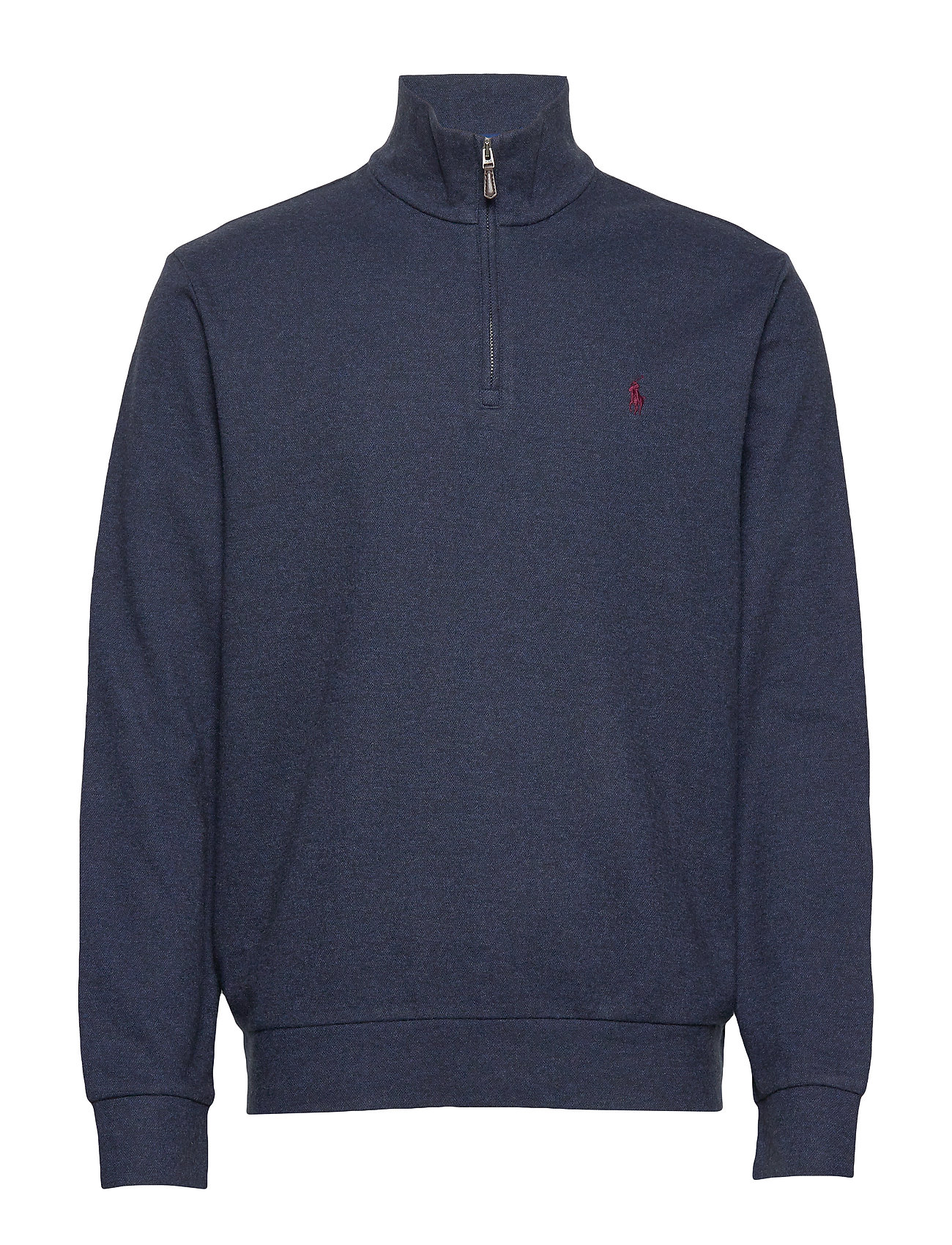 Polo Ralph Lauren Double-Knit Half-Zip Pullover - MONROE BLUE HEATH