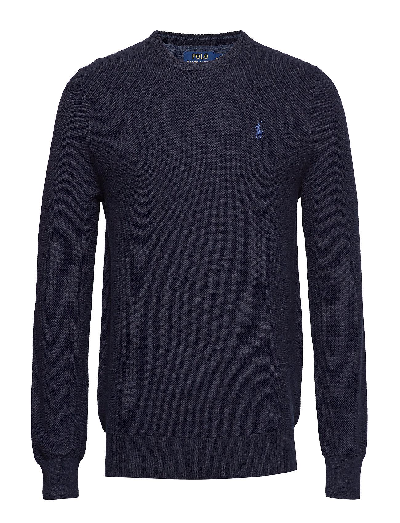 Polo Ralph Lauren Cotton Crewneck Sweater - NAVY HEATHER