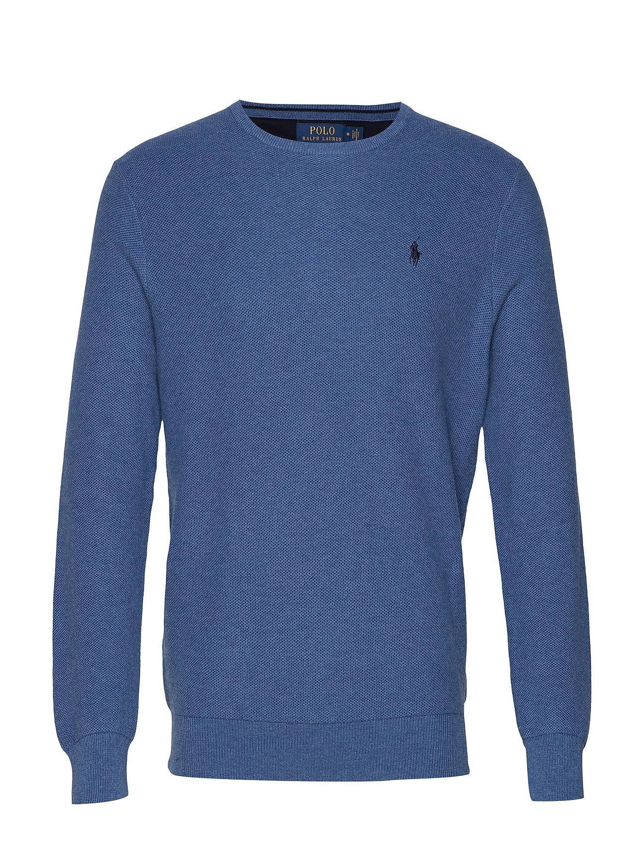 Polo Ralph Lauren Cotton Crewneck Sweater - ROYAL HEATHER