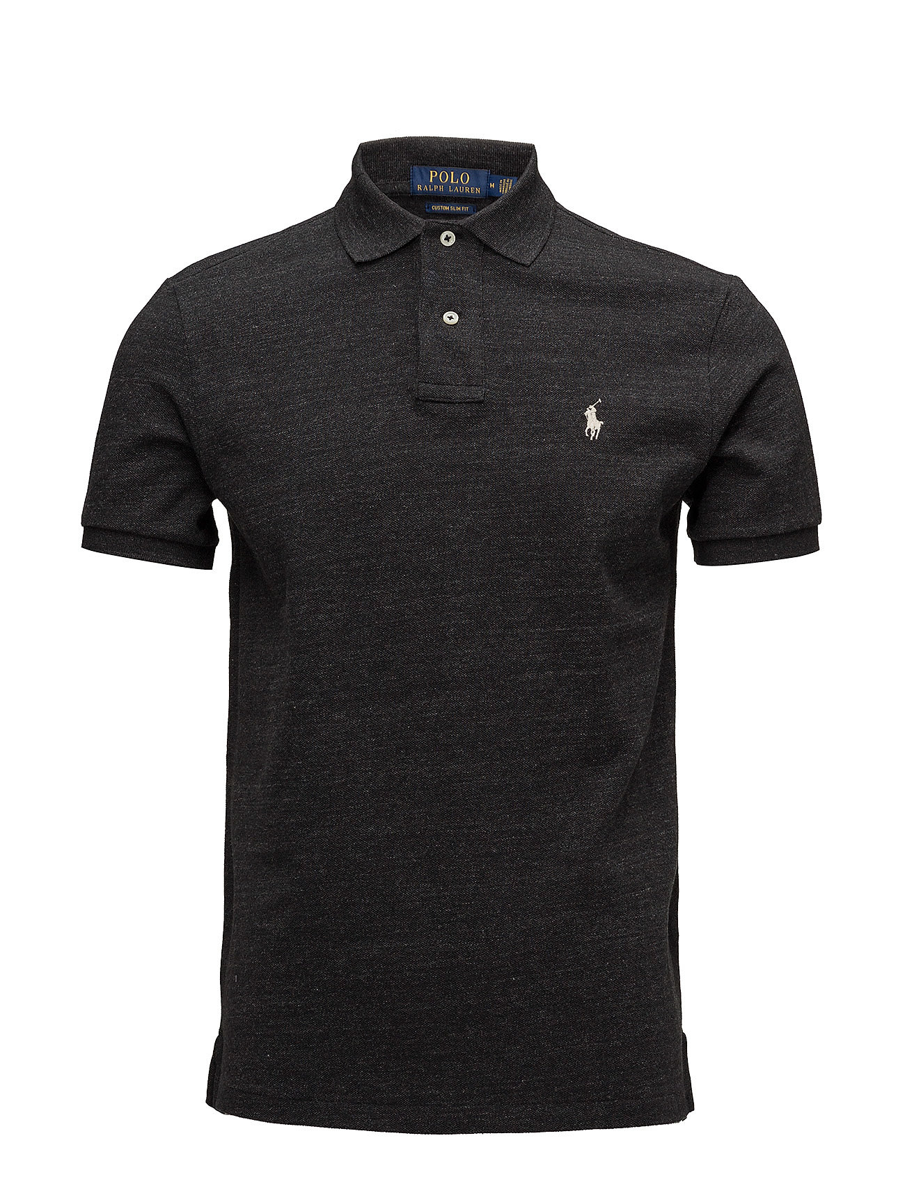 Polo Ralph Lauren SSKCCMSLM1-SHORT SLEEVE-KNIT - BLACK MARL HEATHE