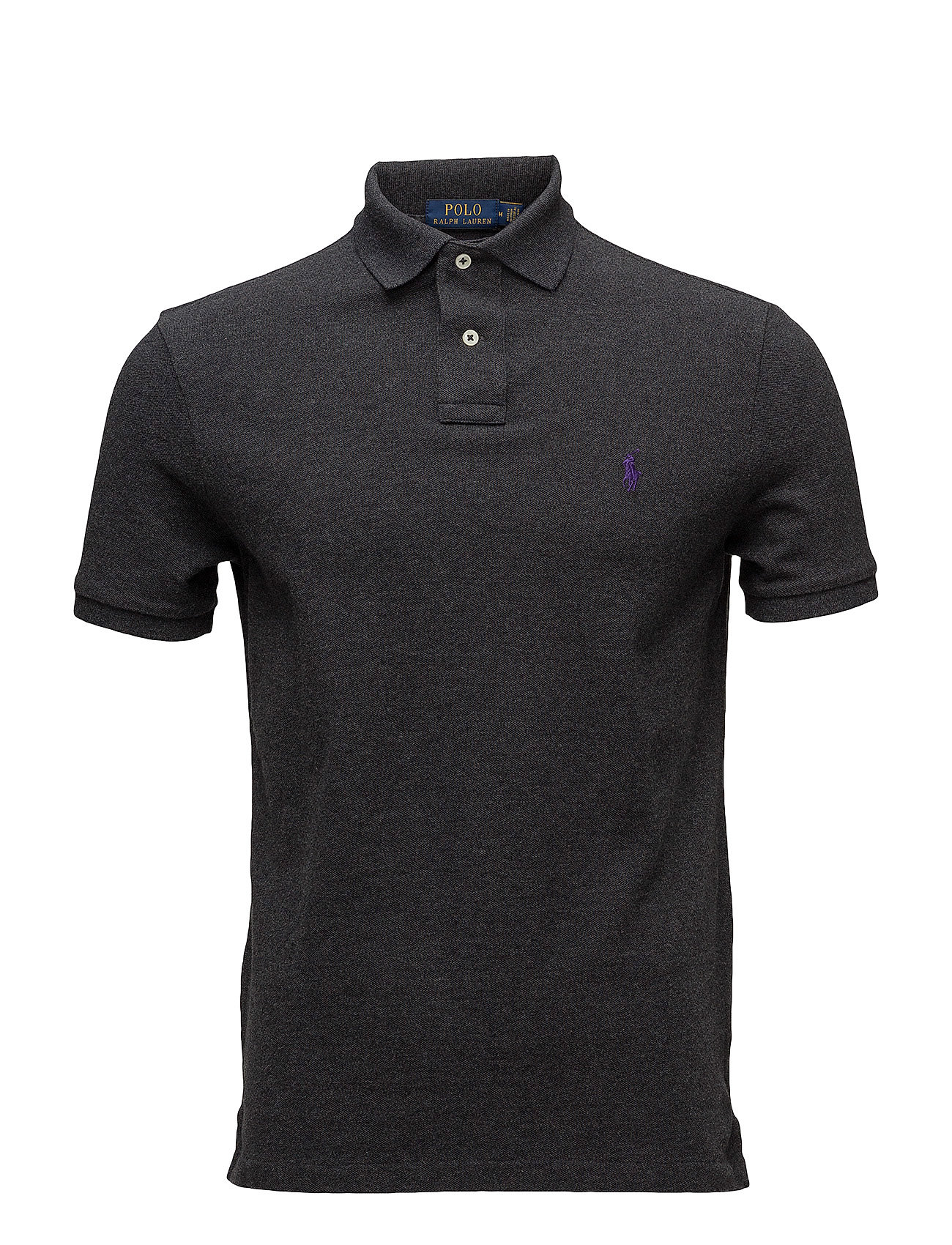 Polo Ralph Lauren SSKCCMSLM1-SHORT SLEEVE-KNIT - DARK GREY HEATHER