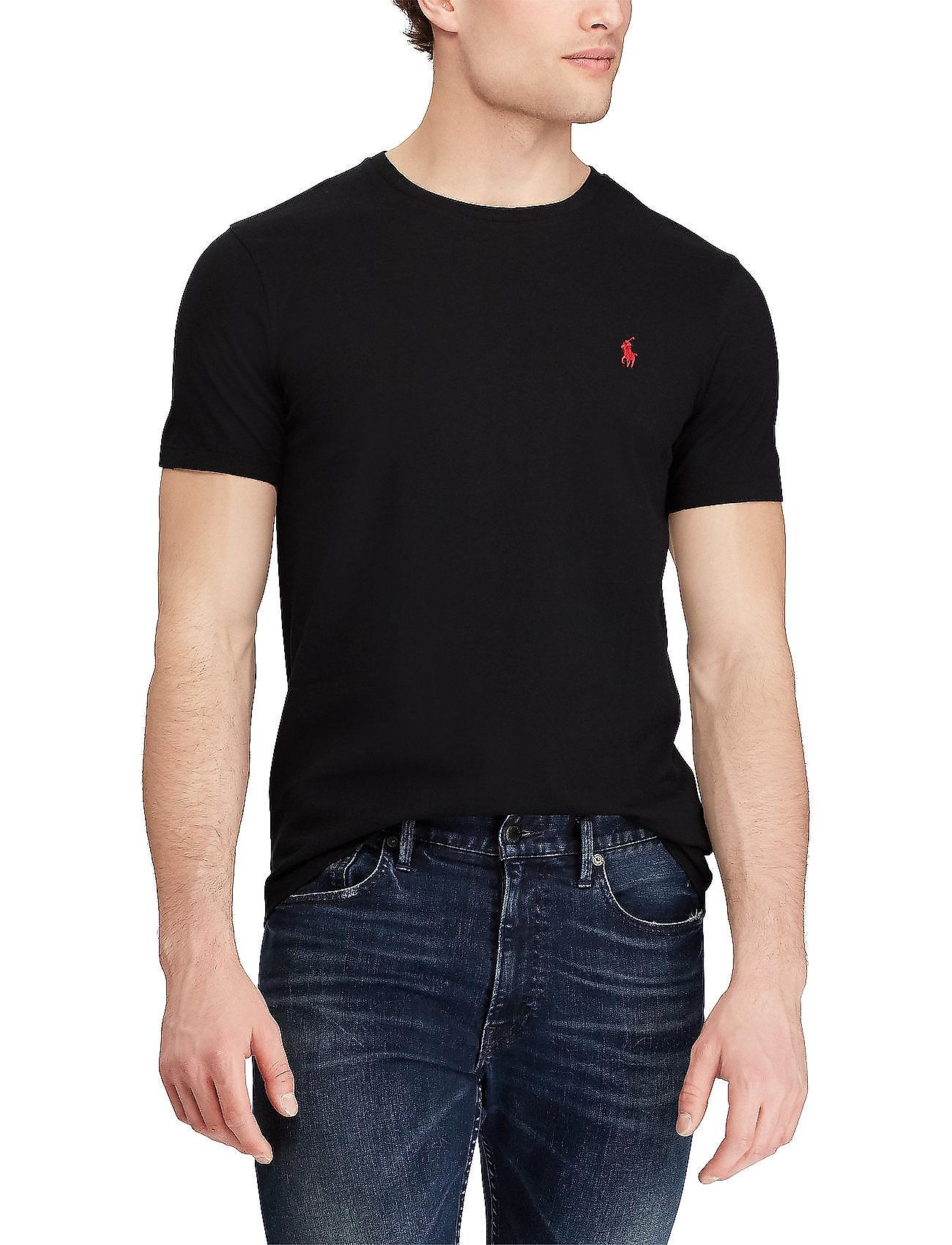 Polo Ralph Lauren - Custom Slim Fit Cotton T-Shirt - basic t-shirts - rl black - 0