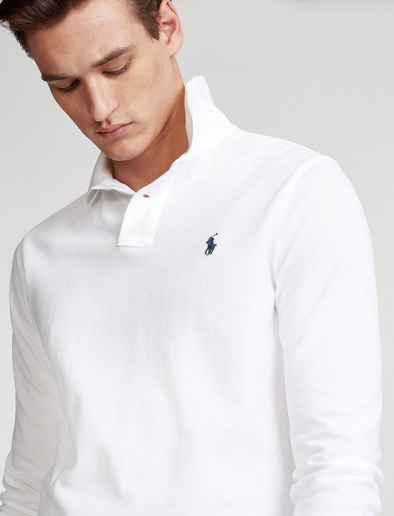 Polo Ralph Lauren - Custom Slim Fit Mesh Polo - long-sleeved polos - white - 0