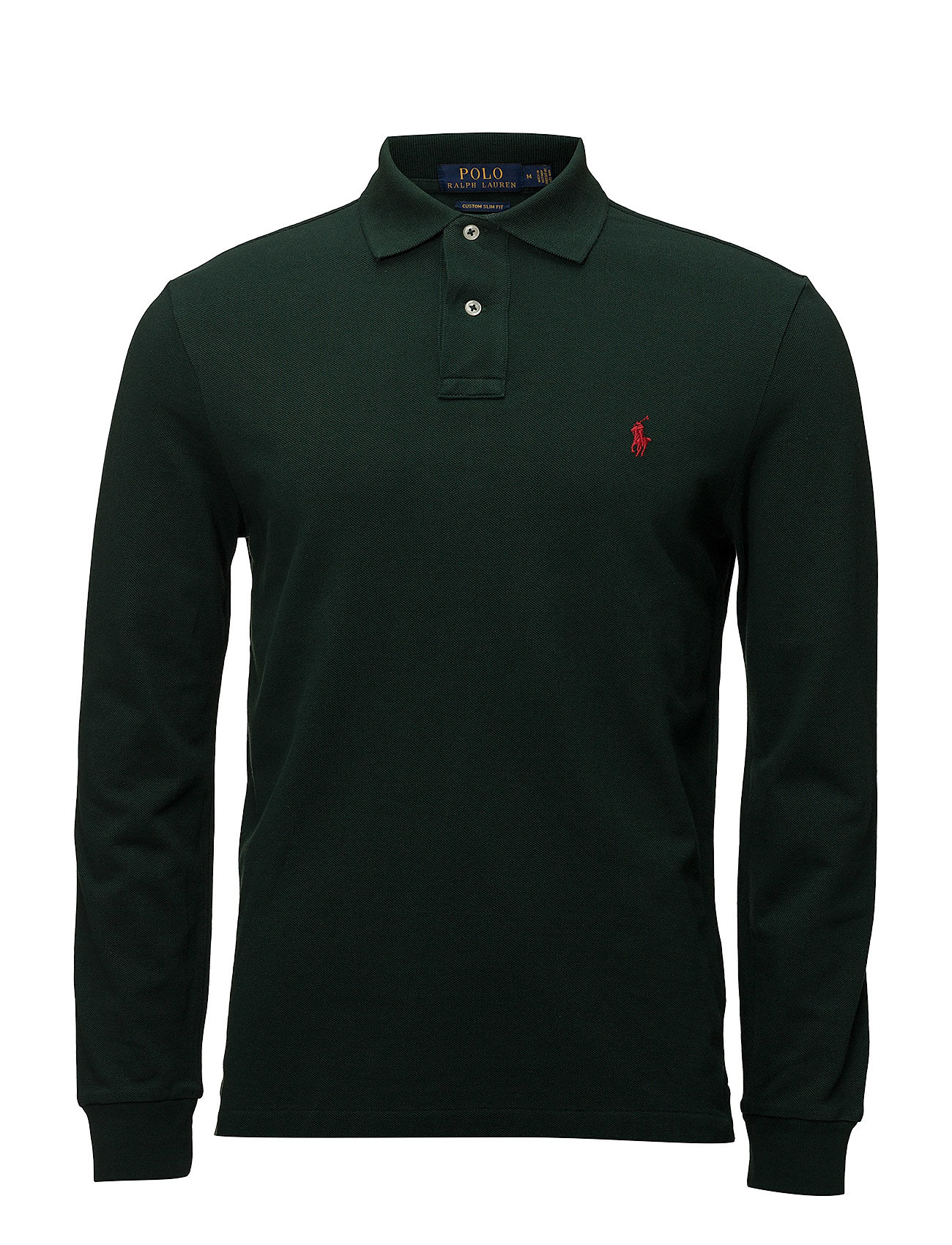 Polo Ralph Lauren Custom Slim Fit Mesh Polo - COLLEGE GREEN