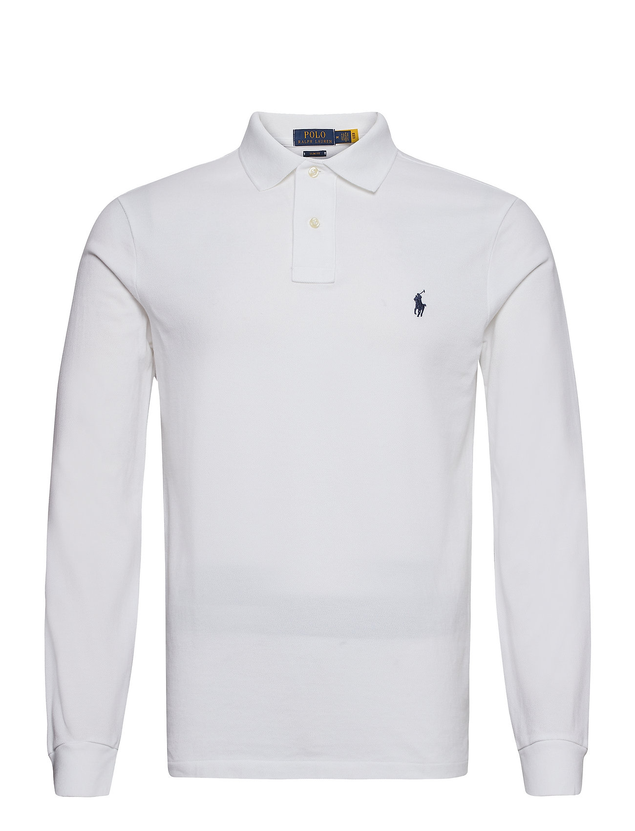 Slim Fit Mesh Long Sleeve Polo White 85 Polo Ralph Lauren
