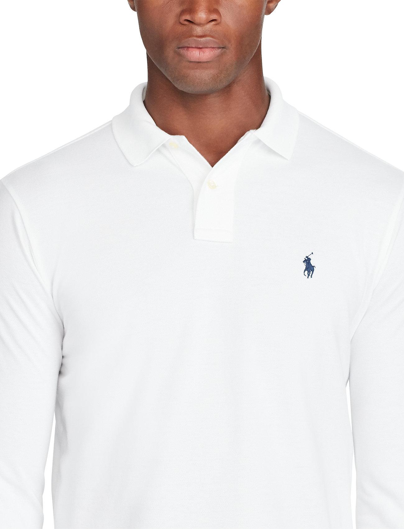 Polo Ralph Lauren    Slim Fit Mesh Long-Sleeve Polo  - Poloshirts    WHITE