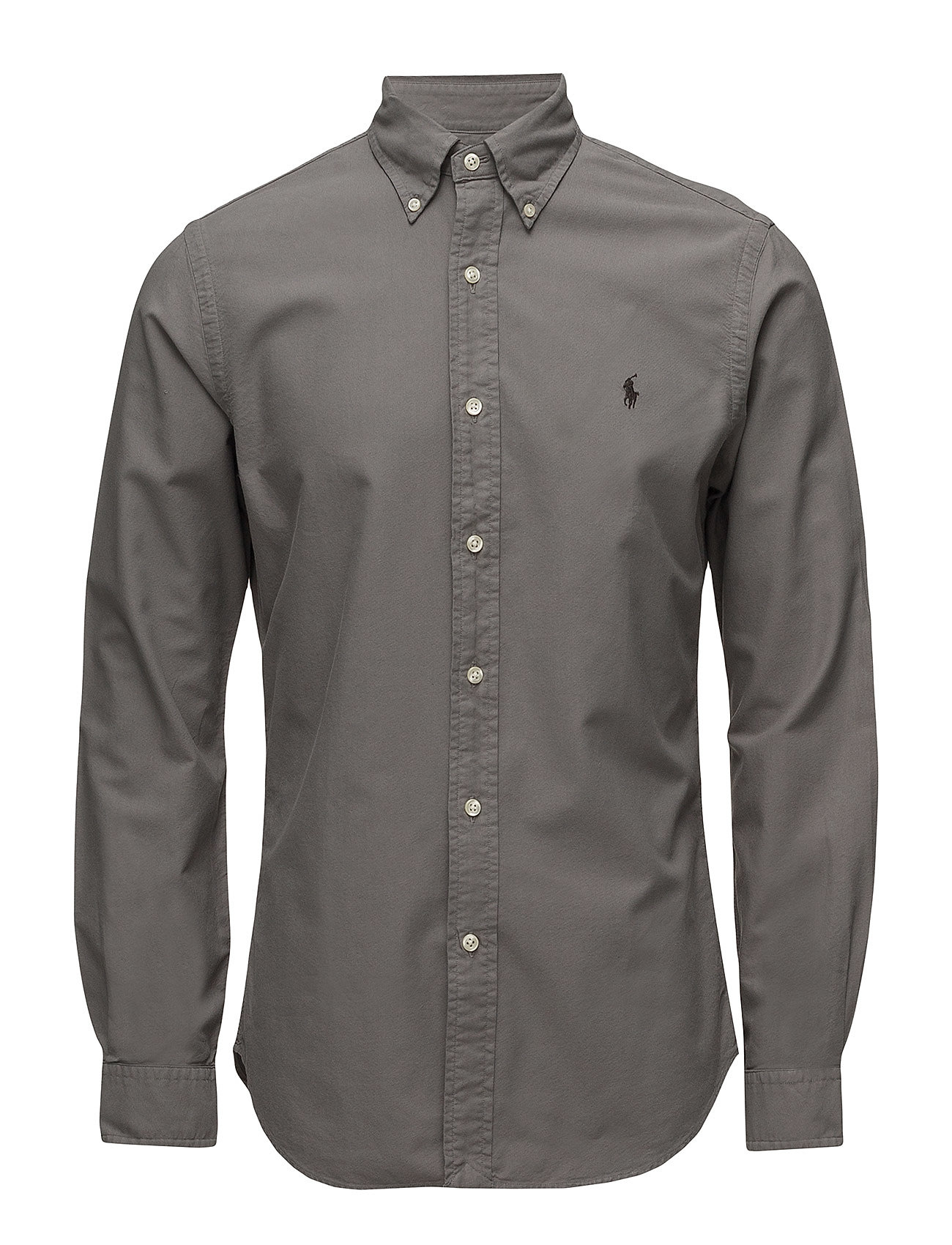 f4baa00d0a21 Slim Fit Cotton Oxford Shirt (Perfect Grey) (£76) - Polo Ralph ...