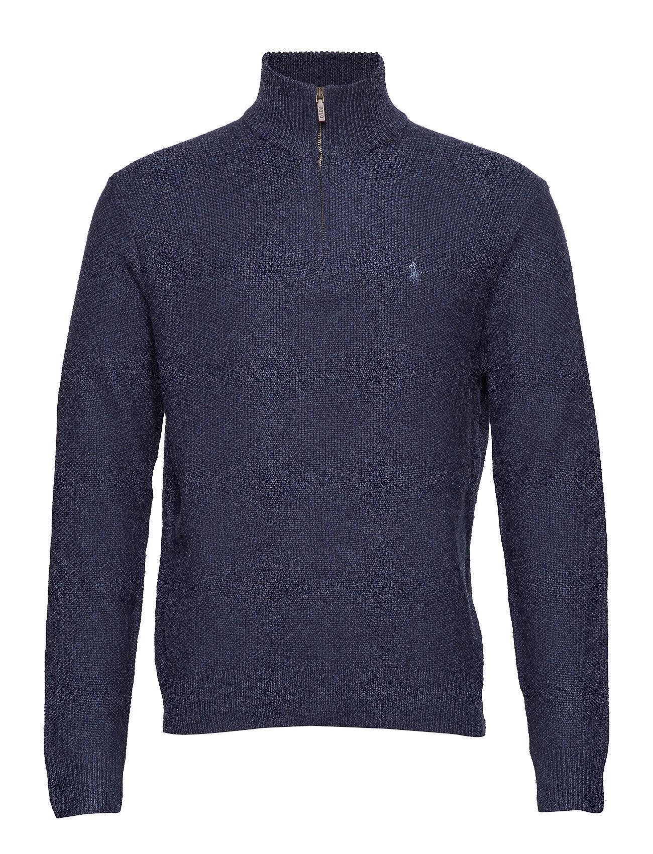 Polo Ralph Lauren Tussah Silk Half-Zip Sweater - NAVY HEATHER